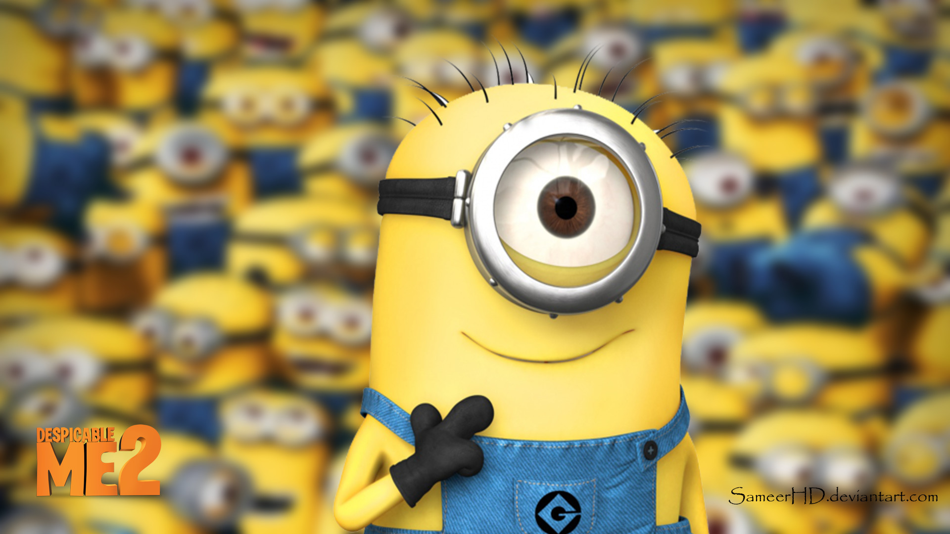 Res: 1920x1080, Despicable Me 2 Minion Wallpaper by SameerHD on DeviantArt