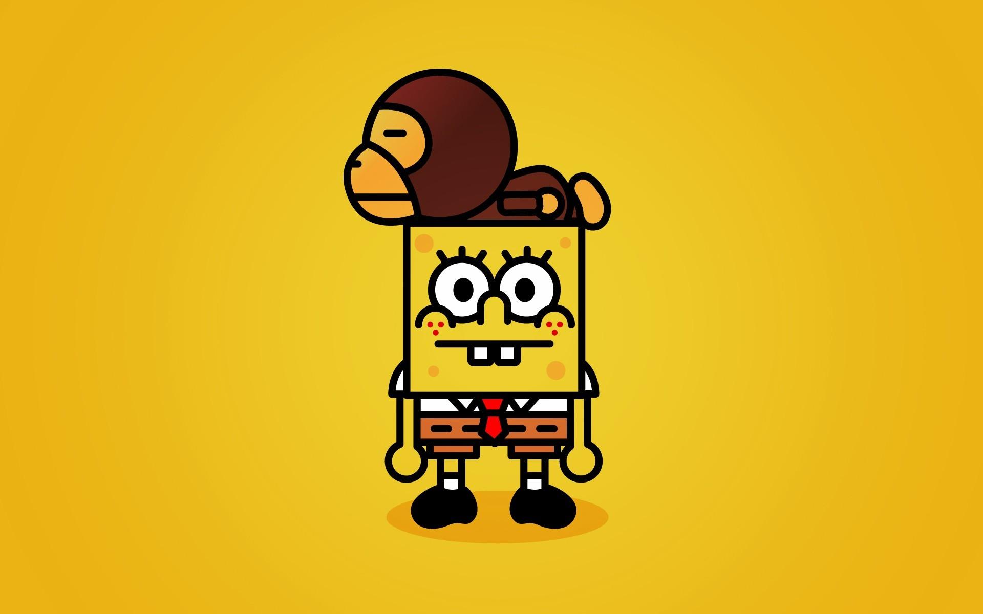 Res: 1920x1200, minimalistic, SpongeBob SquarePants, simplistic - Free Wallpaper /  WallpaperJam.com