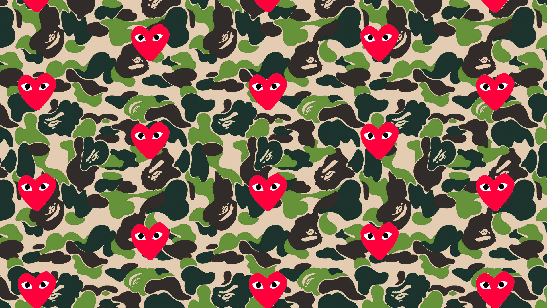 Res: 1920x1080, [OC] Made a Bape x Comme Des Garcons Wallpaper for you guys ...