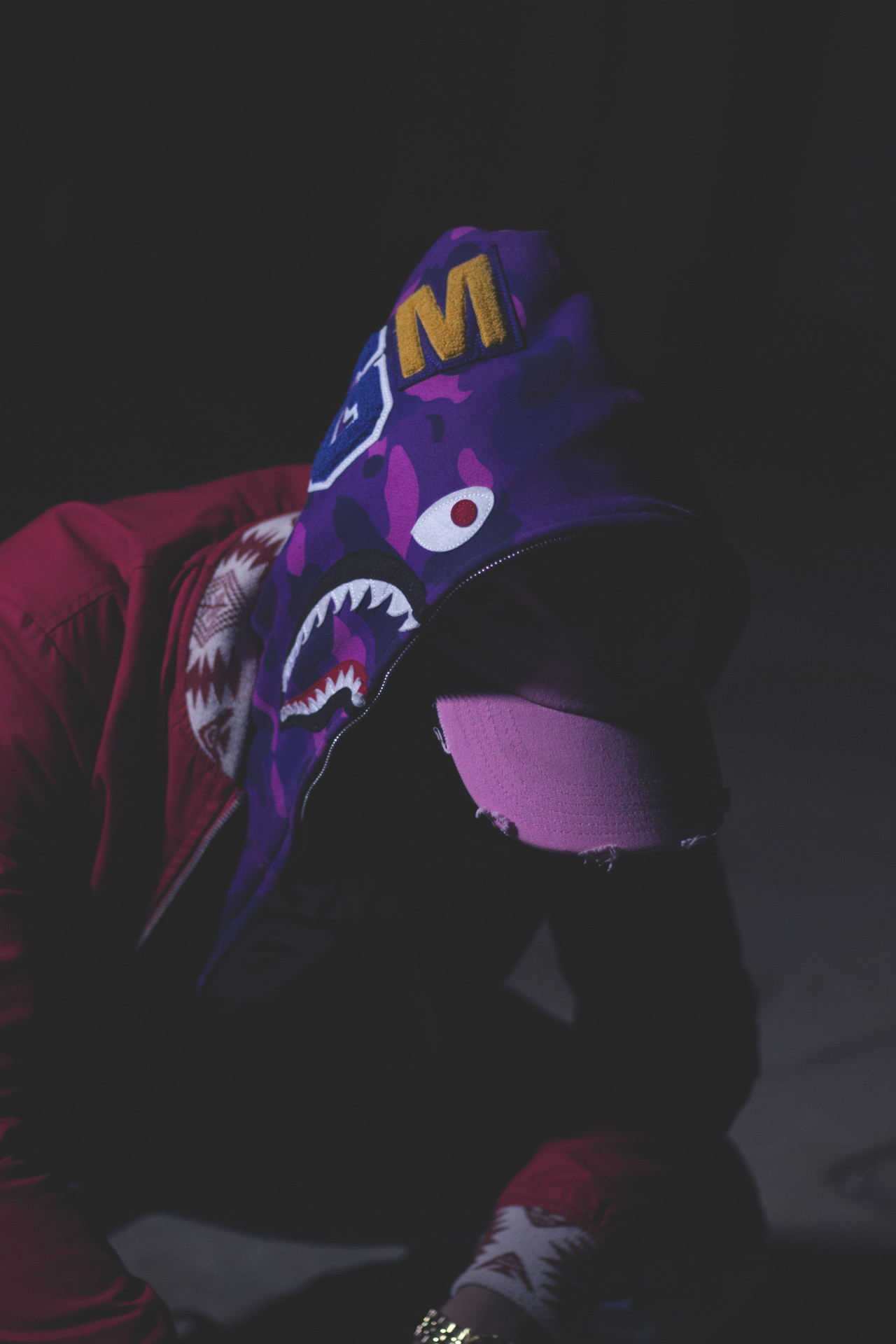 Res: 1280x1920, Bape Shark Wallpaper · WGM x BAPE