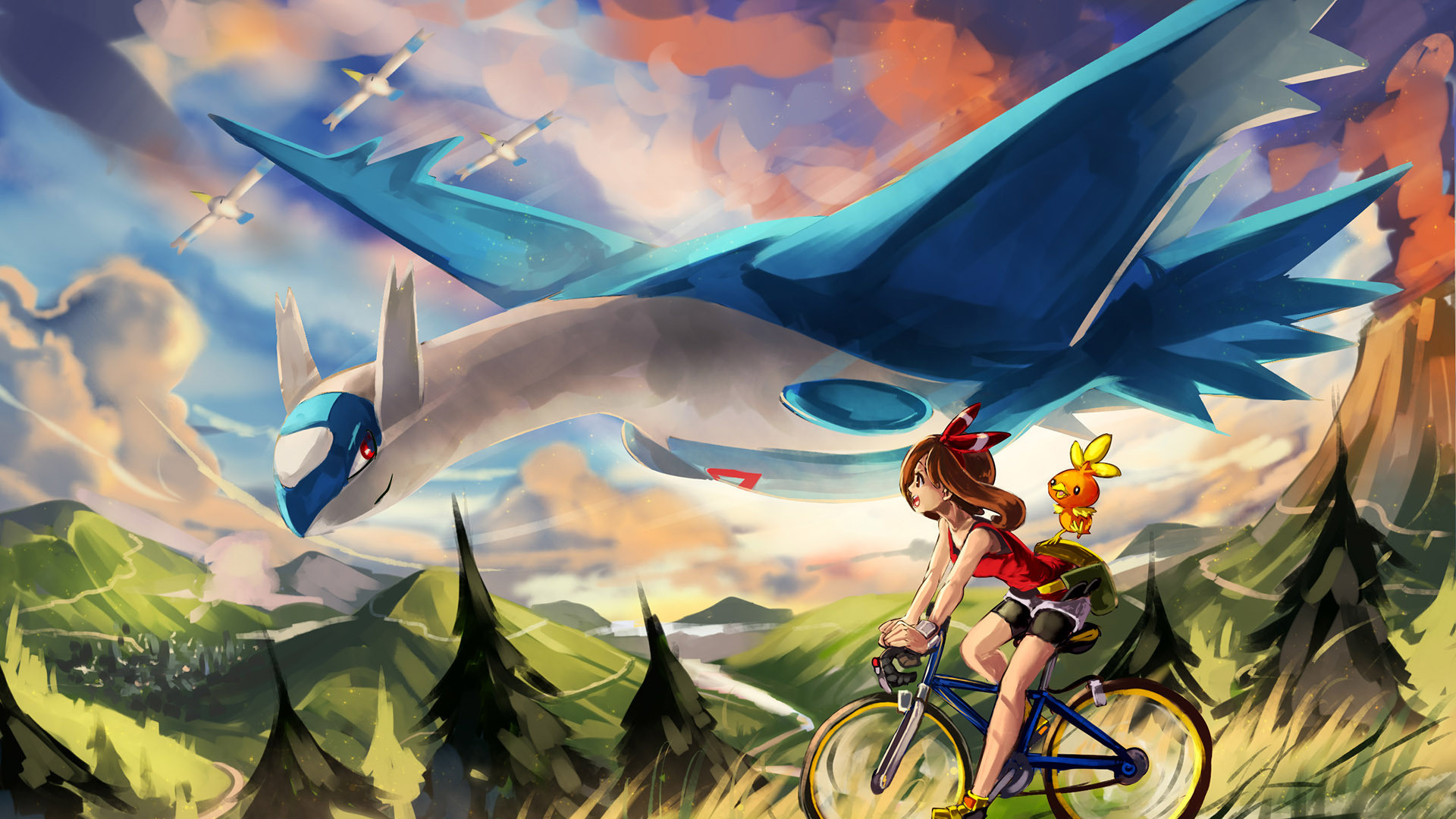 Res: 1920x1080, epic pokemon widescreen wallpaper by hd wallpapers daily. serena on the bike
