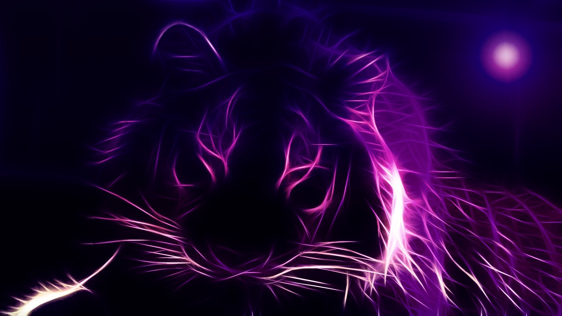 Res: 1920x1080, Abstract Wallpapers. Download the following neon Tiger ...