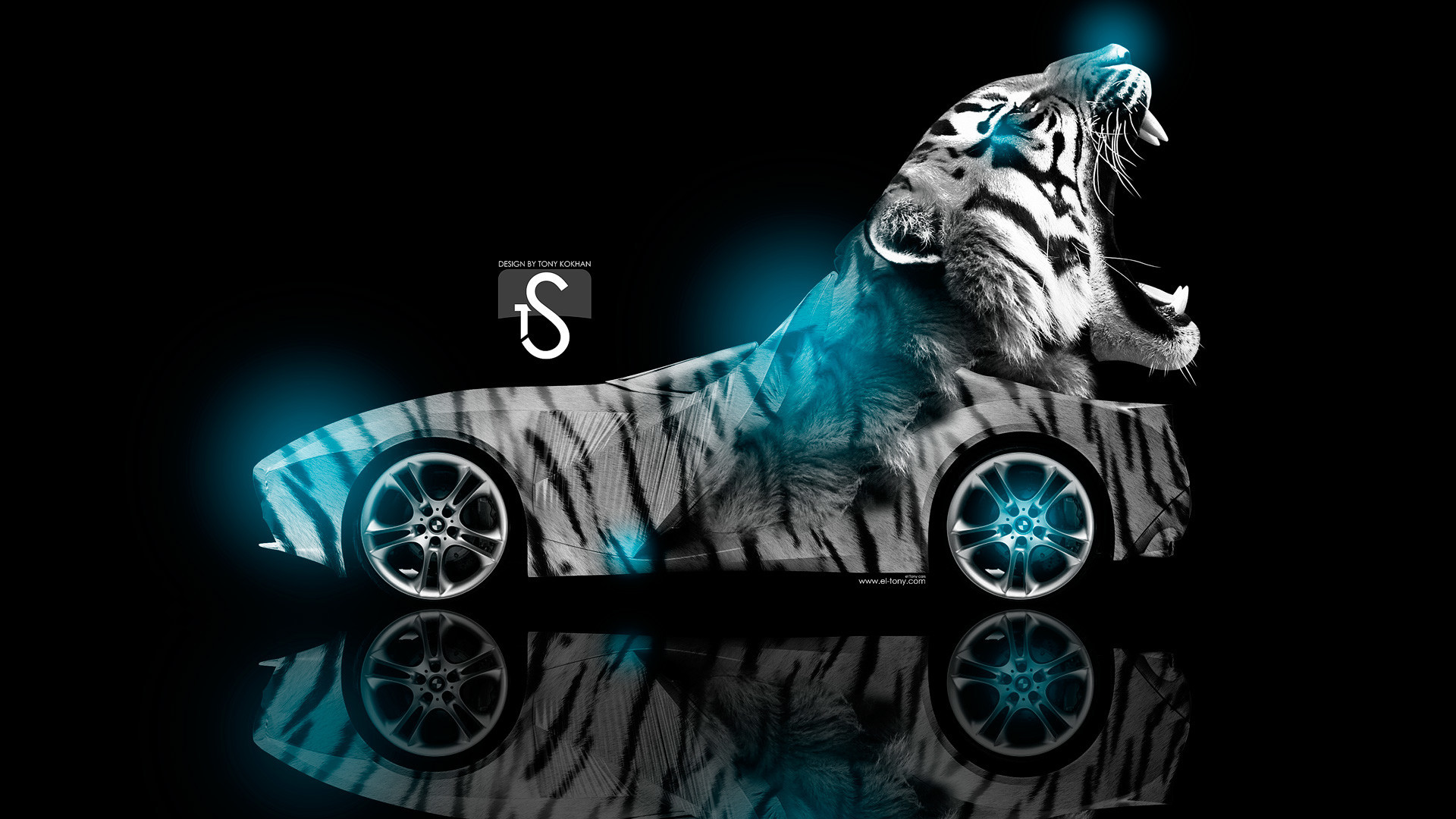 Res: 1920x1080,  Cool Animal Wallpaper Light Blue Tiger Quotes
