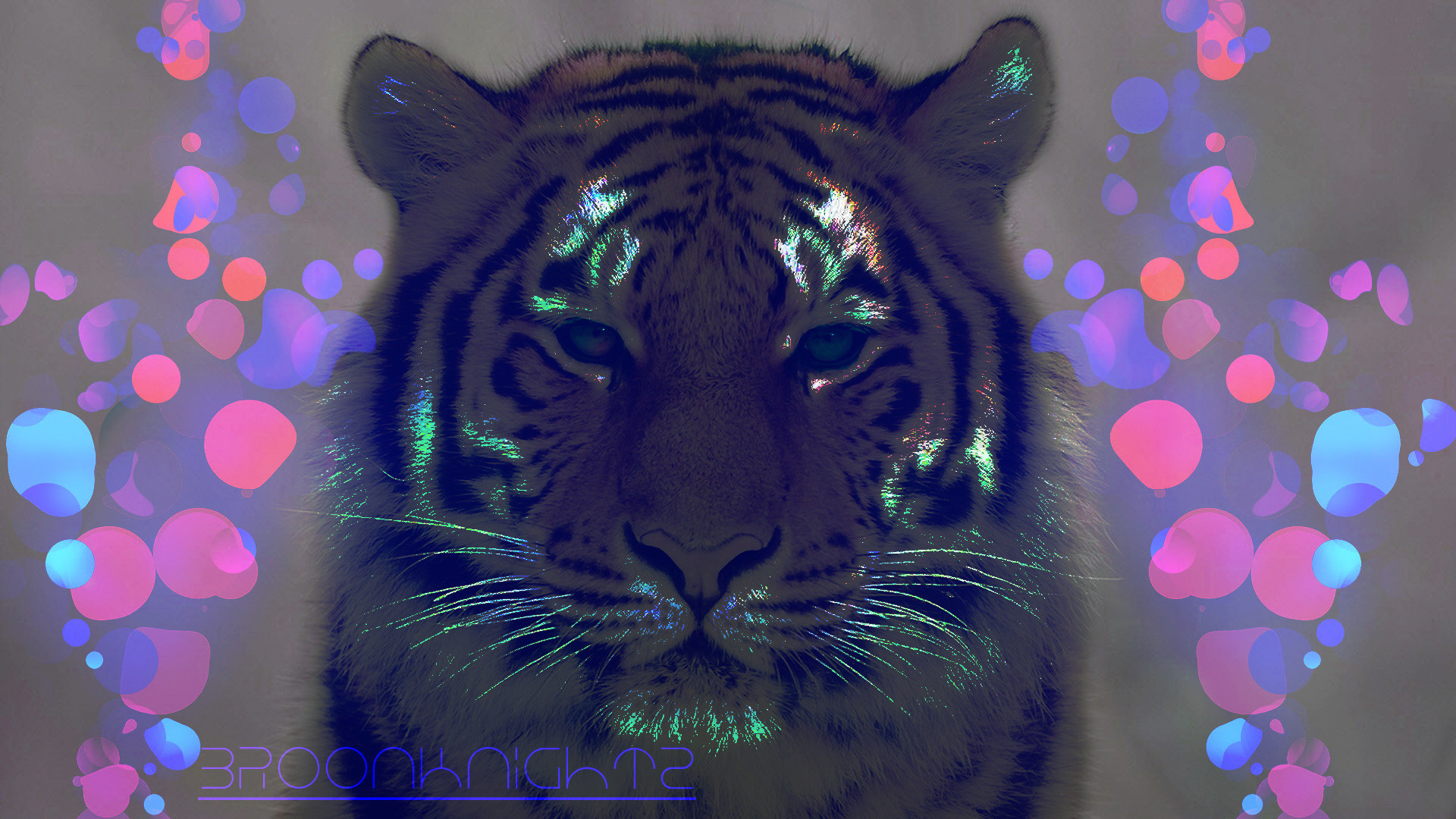 Res: 1920x1080, Neon tiger Wallpaper 23567