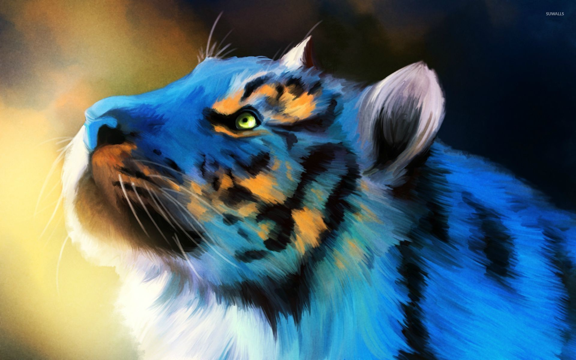 Res: 1920x1200, Tiger painting wallpaper