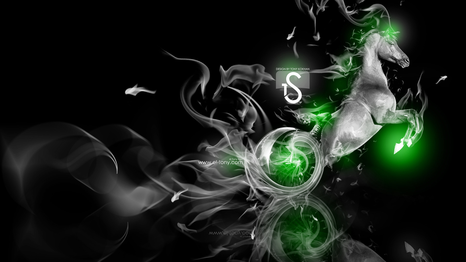 Res: 1920x1080, ... Fantasy-Fire-Moto-Horse-2014-Green-Neon-HD- ...