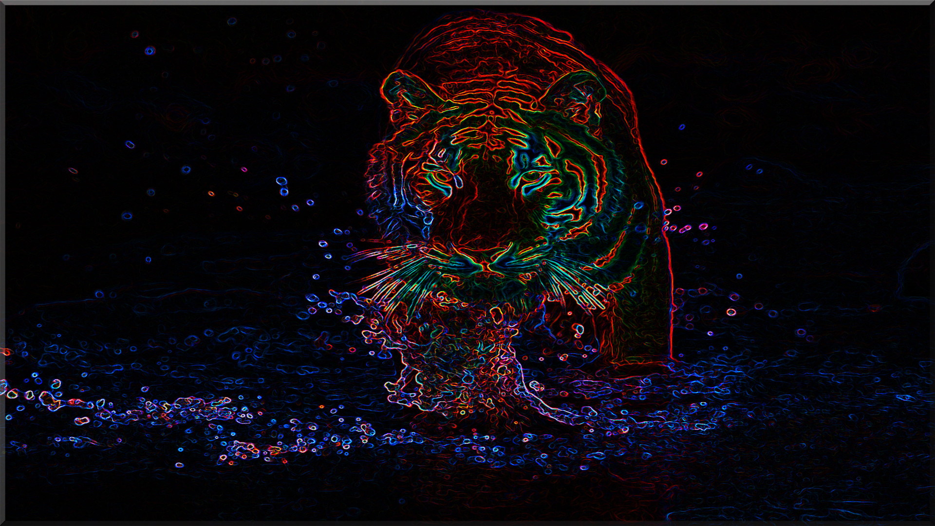 Res: 1920x1080, Neon Tiger - and CG Wallpaper ID 1414390 - Desktop Nexus Abstract