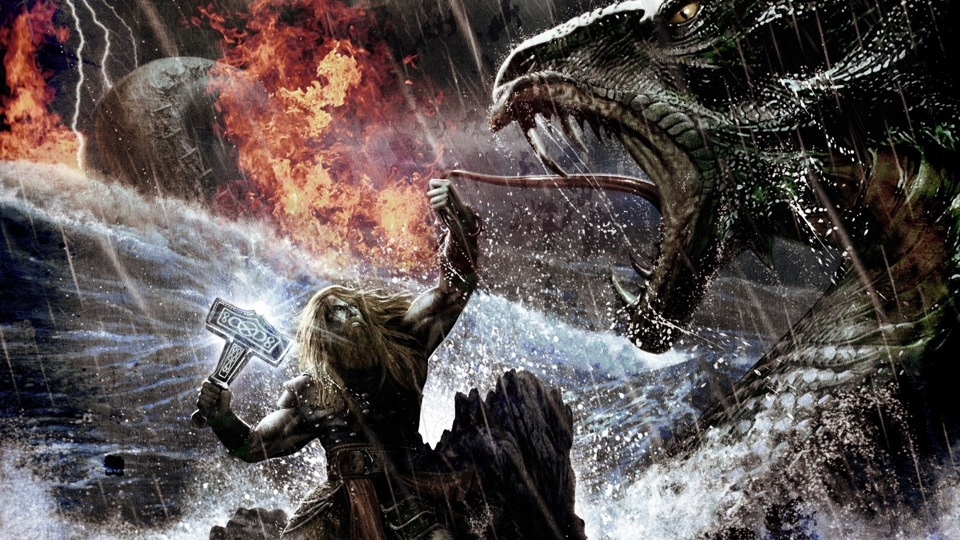 Res: 1920x1080,  Viking kills the dragon wallpapers and images - wallpapers,  pictures .