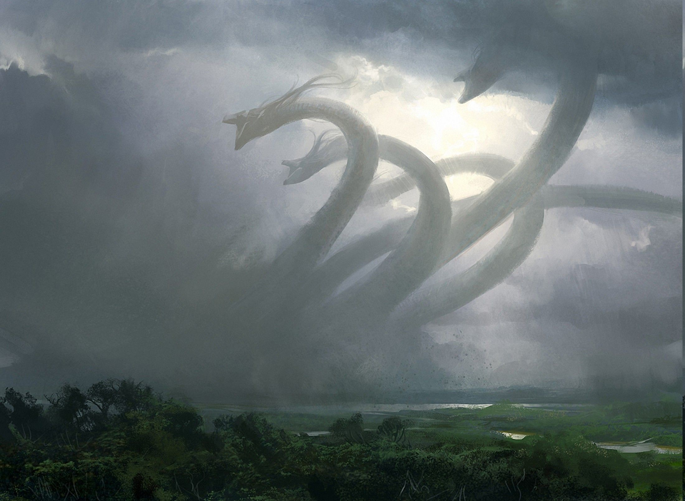 Res: 2200x1609, Download hd wallpapers of 37456-fantasy Art, Hydra, Mythology, Creature.  Free