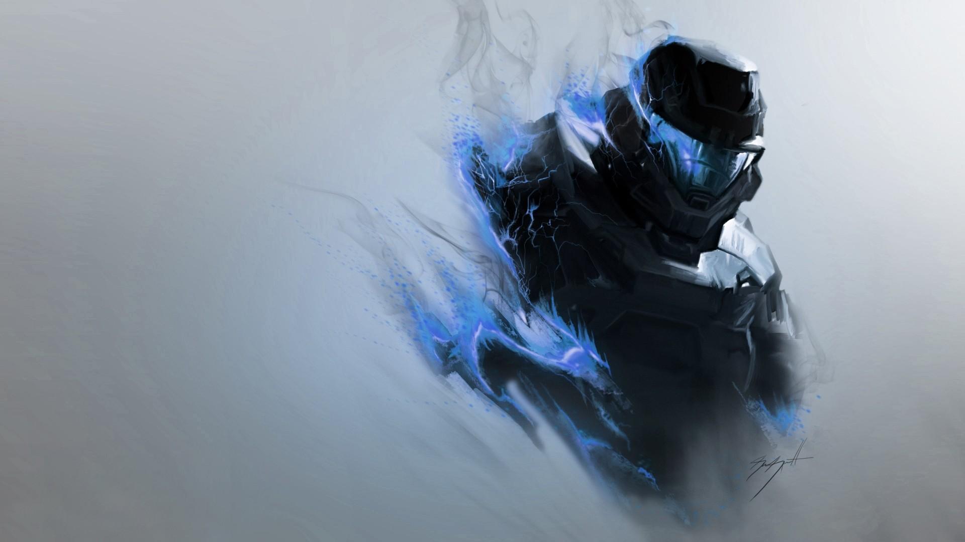 Res: 1920x1080, halo, smoke, armor