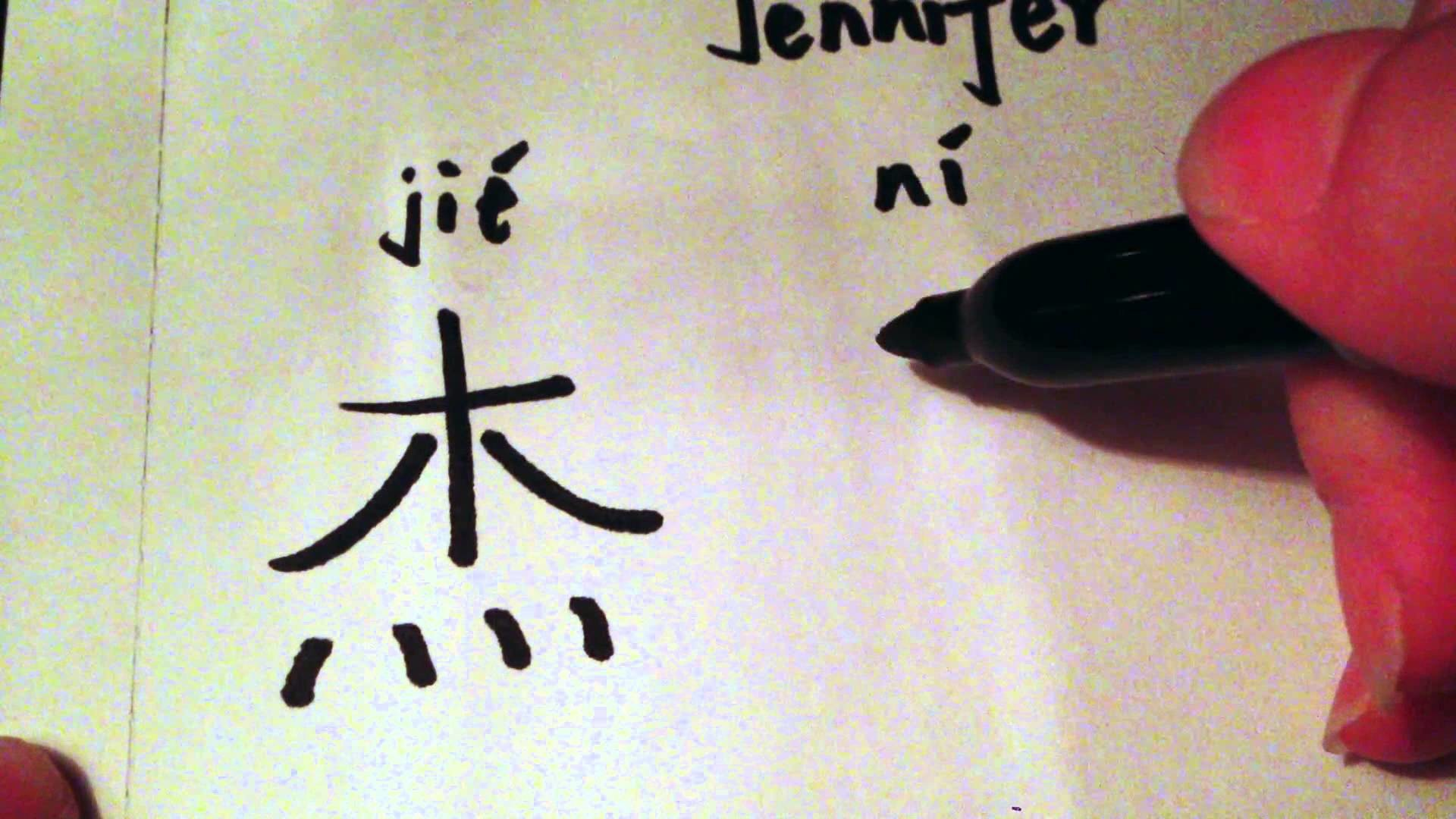 Res: 1920x1080, How to write the name Jennifer in Chinese characters