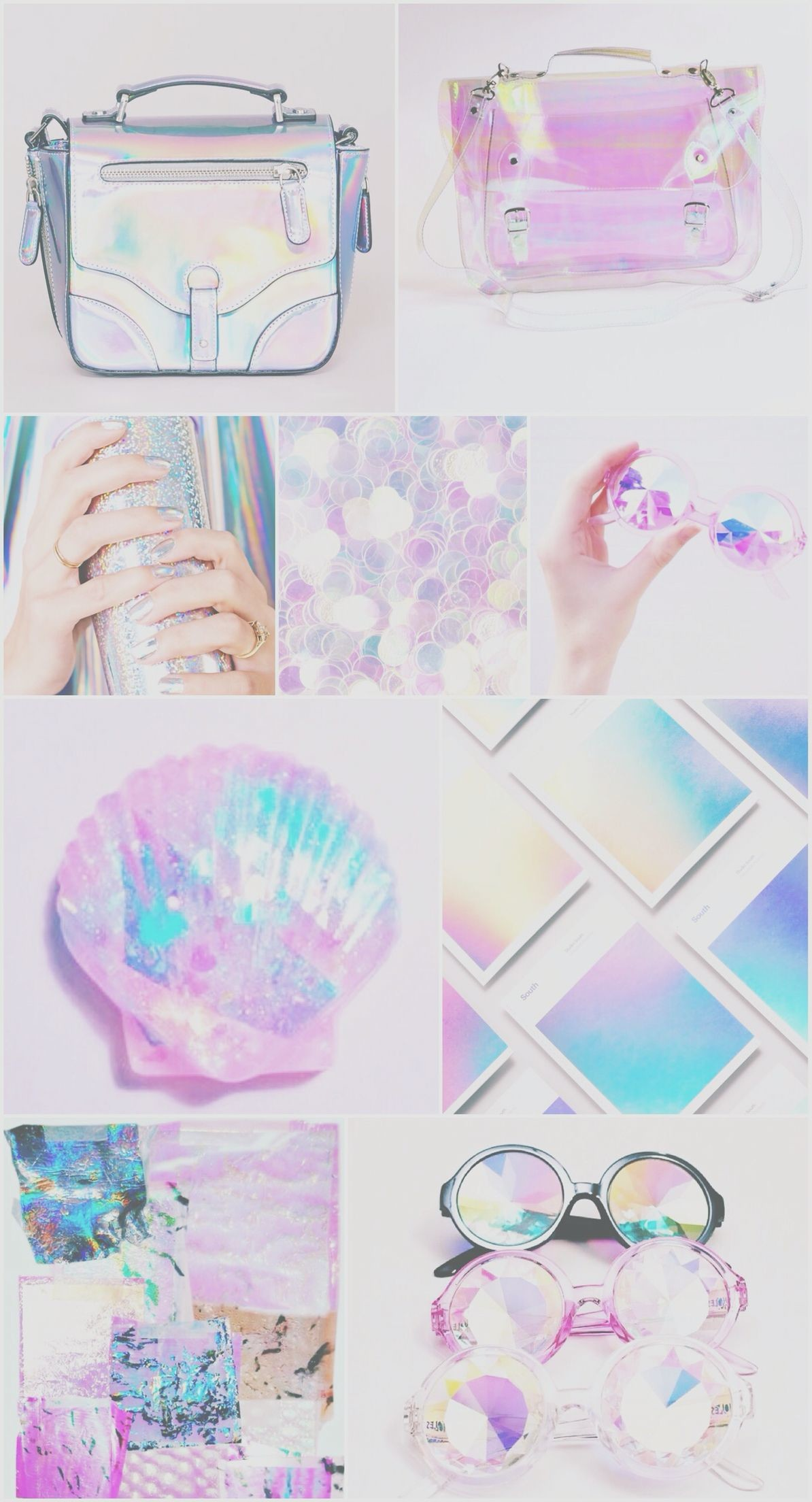 Res: 1194x2208, Iridescent holographic wallpaper, iPhone, android, pretty, pink, blue,  purple,