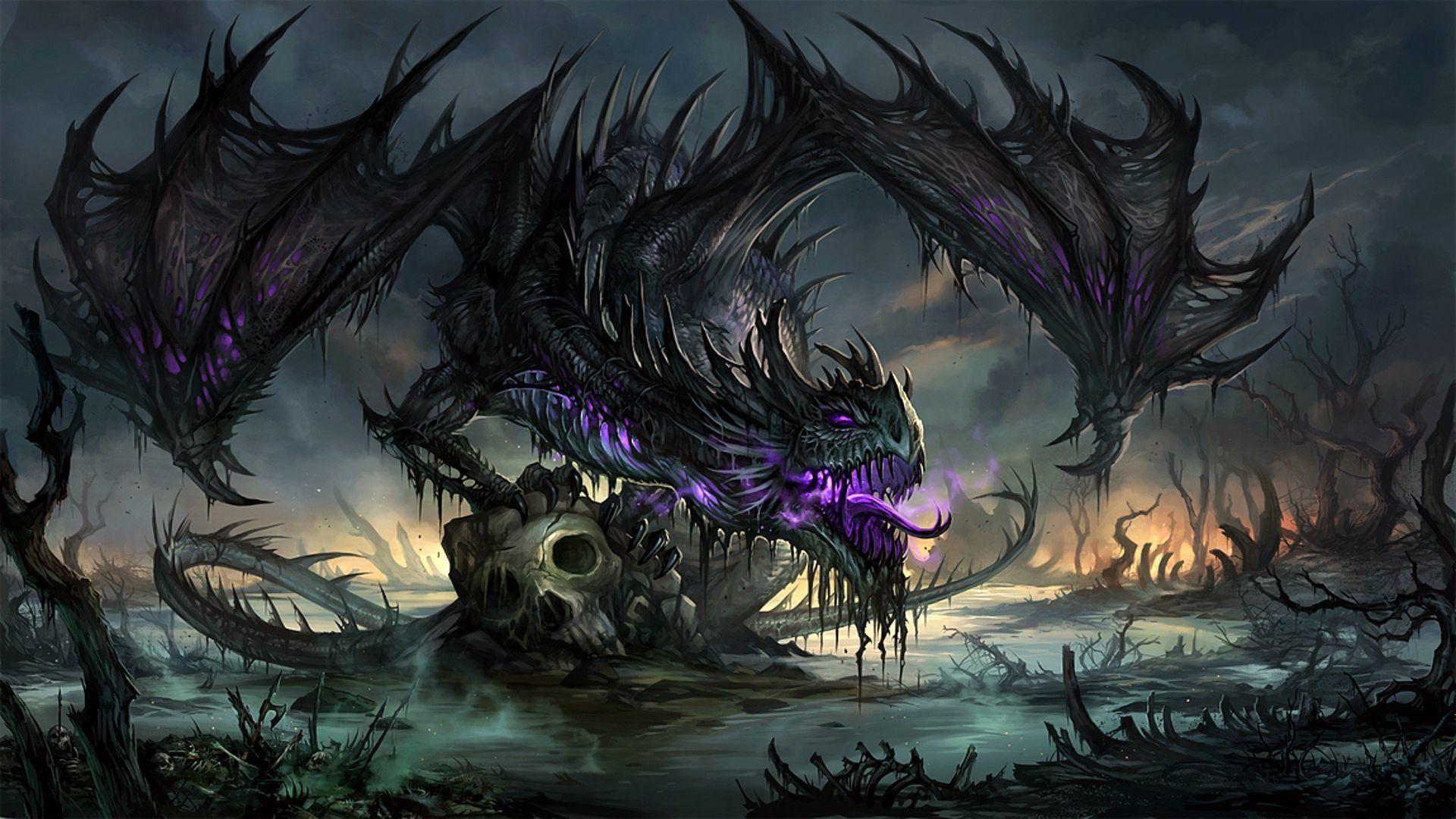 Res: 1920x1080, Purple Dragon Wallpaper - WallpaperSafari