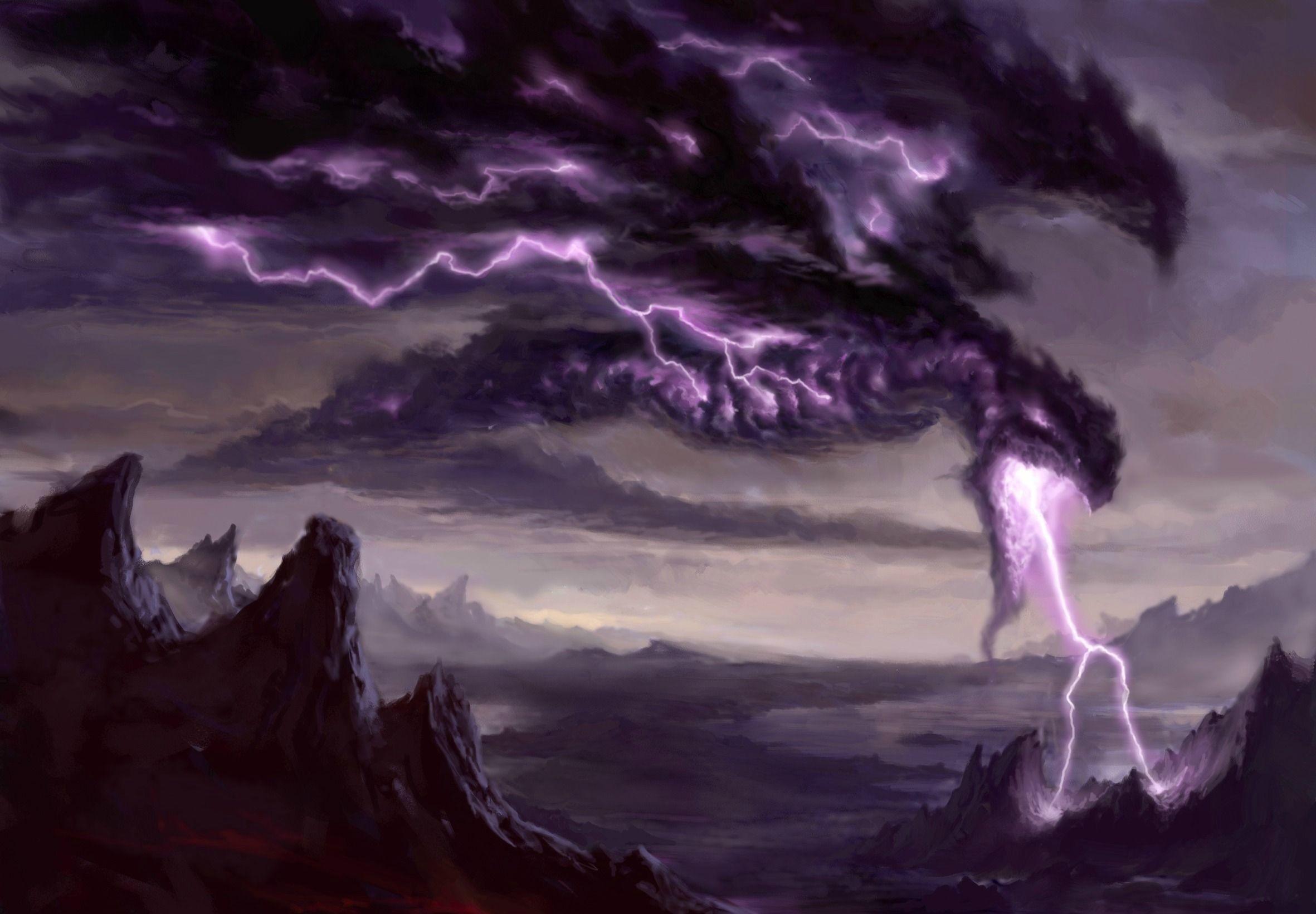 Res: 2362x1641, Black Lightning Dragon Wallpaper