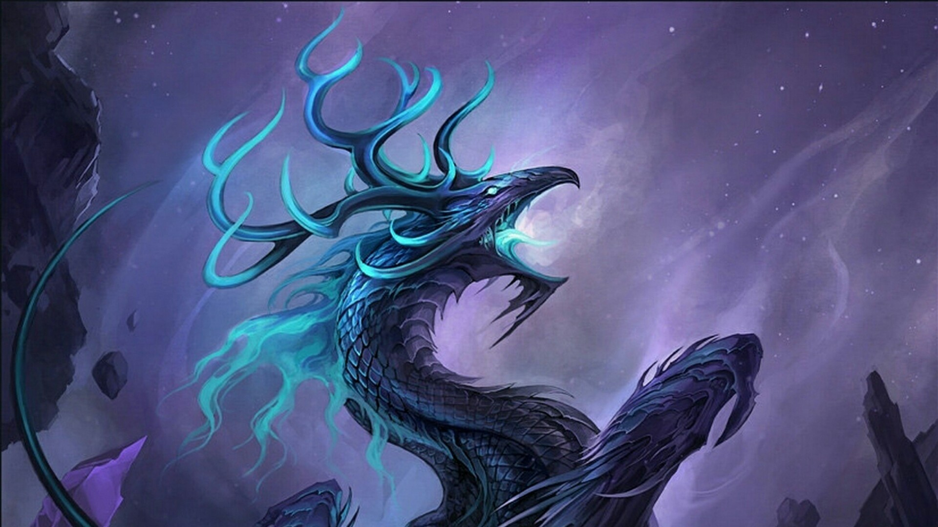 Res: 1920x1080, Ice Dragon Wallpaper | Wallpaper Studio 10 | Tens of thousands HD and  UltraHD wallpapers for Android, Windows and Xbox