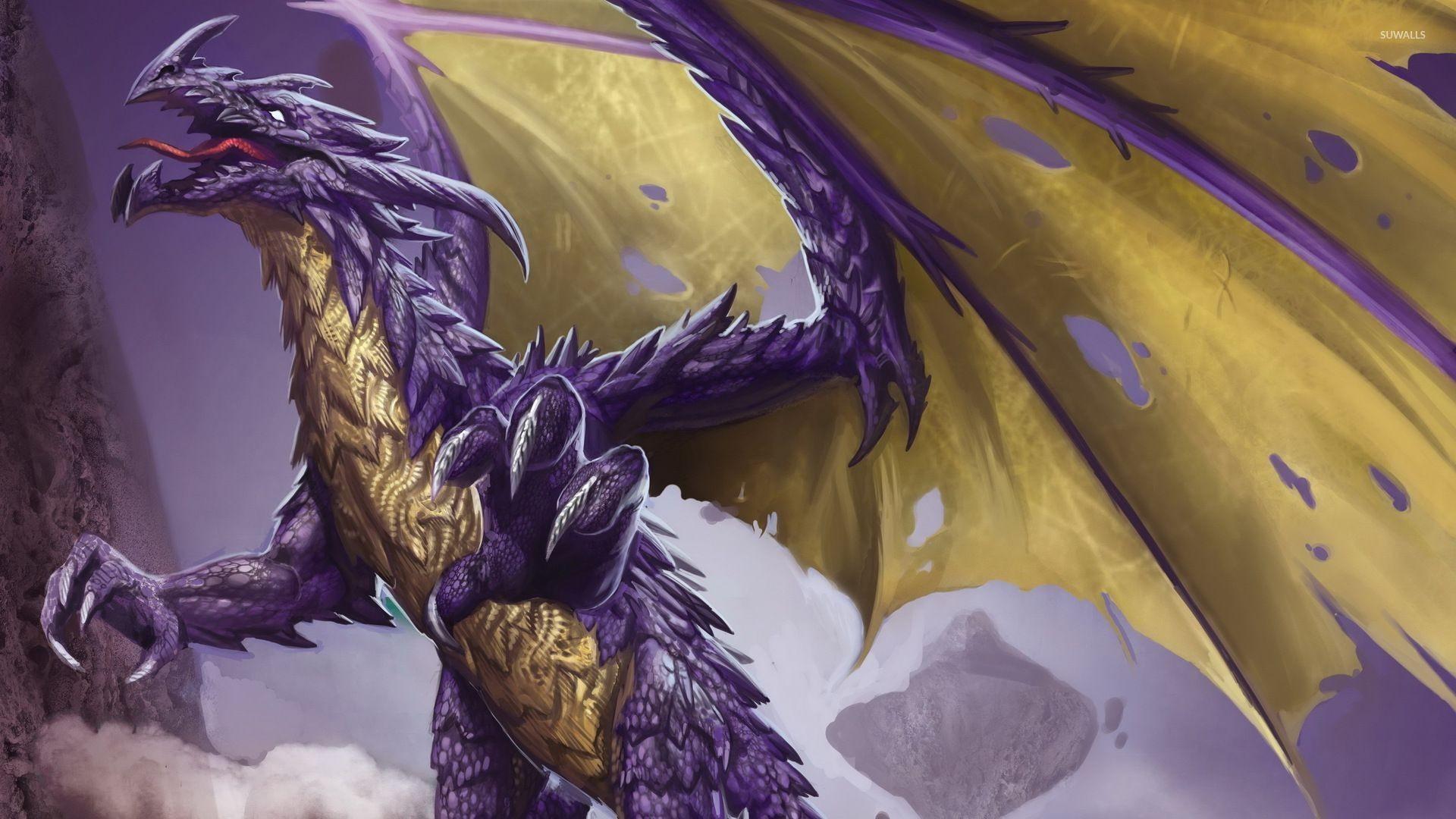 Res: 1920x1080, Purple dragon wallpaper