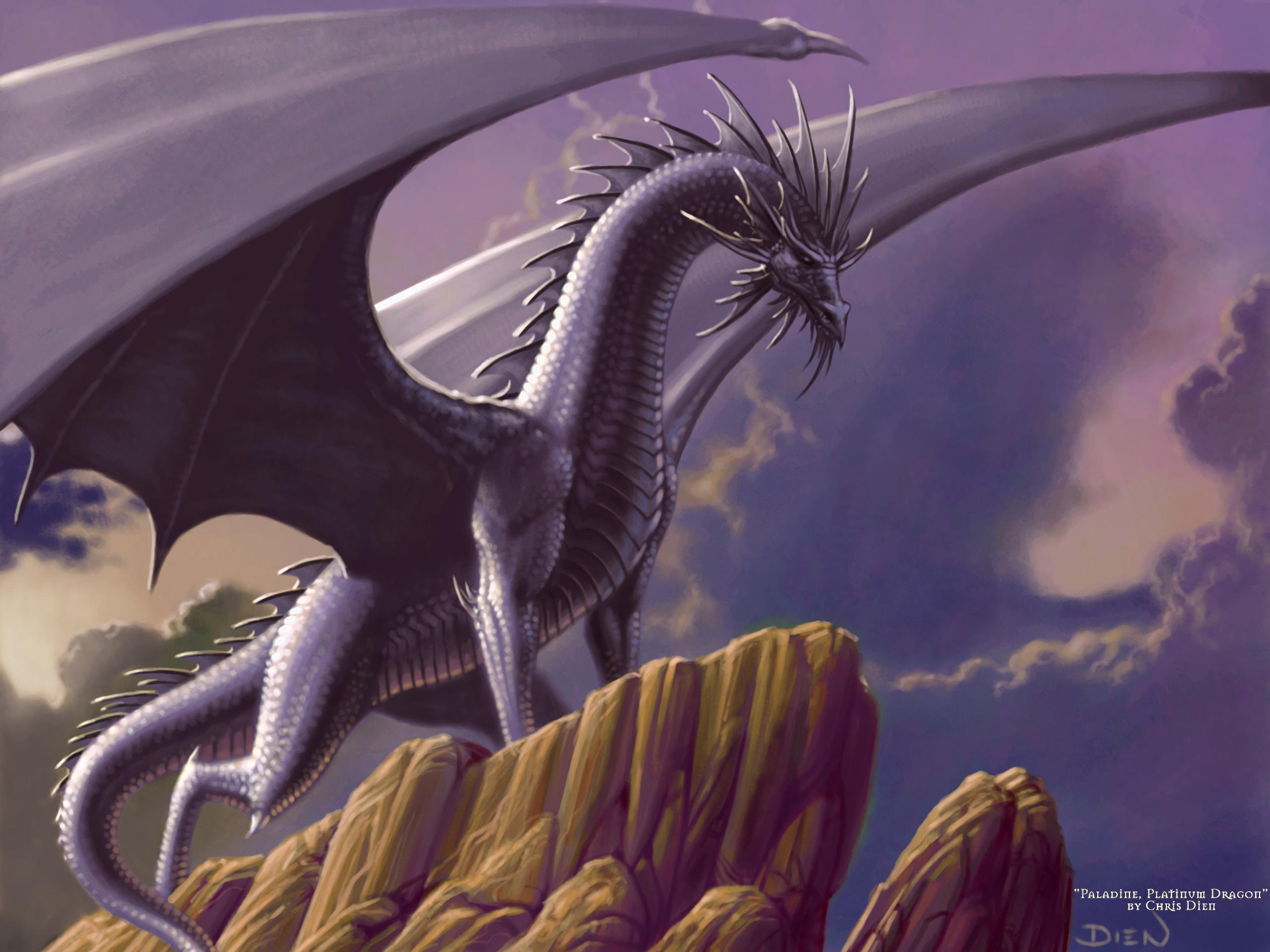Res: 2560x1920, Fantasy - Dragon Fantasy Purple Wallpaper