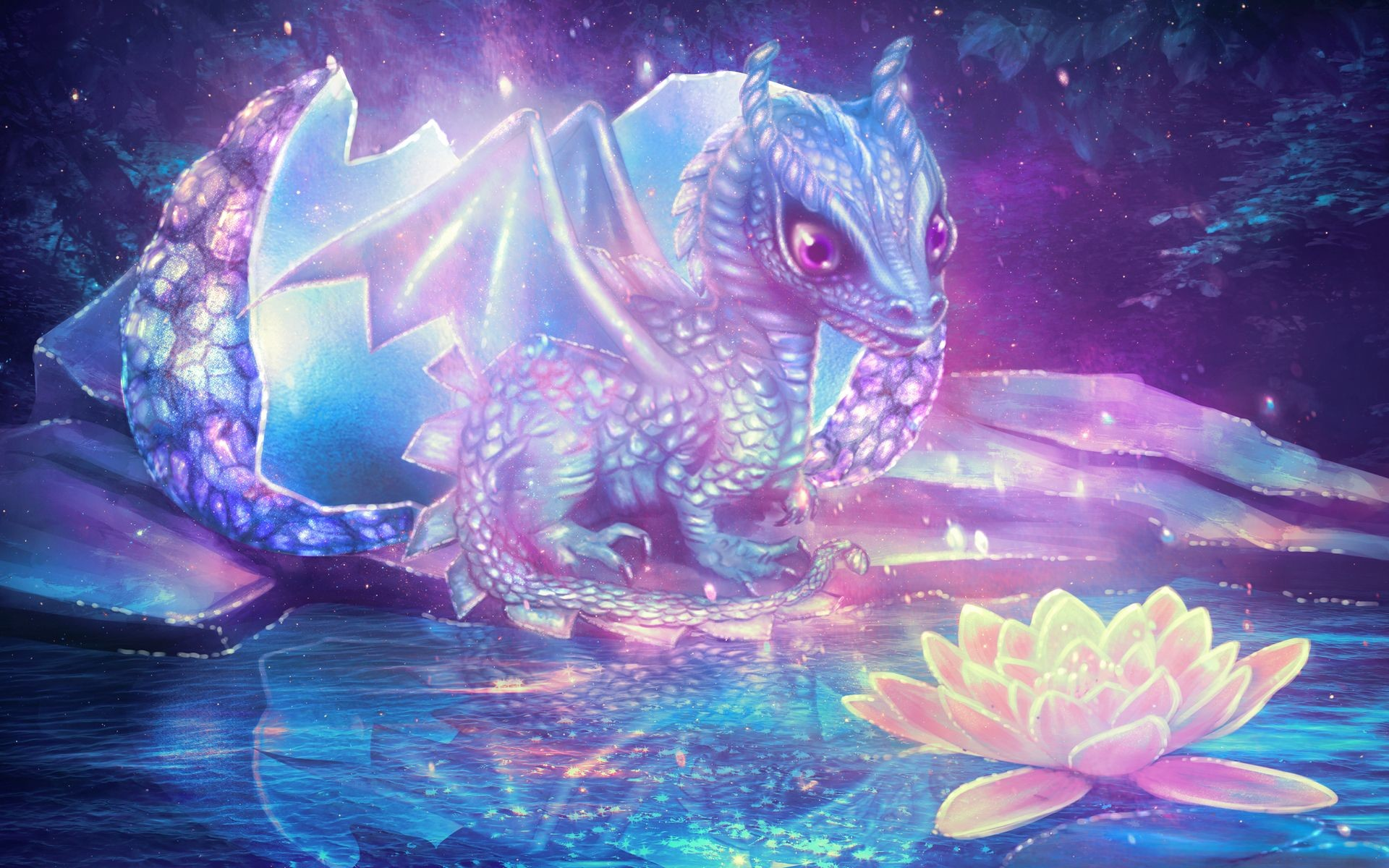 Res: 1920x1200, Fantasy - Dragon Wallpaper
