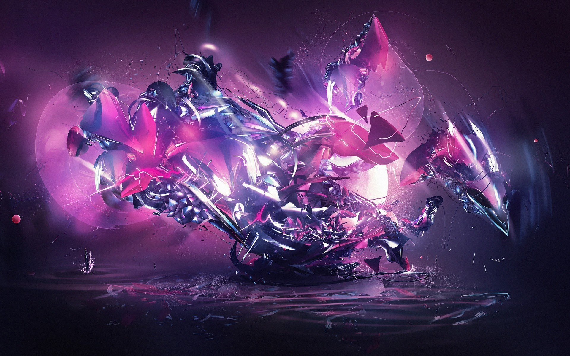Res: 1920x1200, Dragon Explosion Pink Abstract wallpapers Dragon Explosion Pink