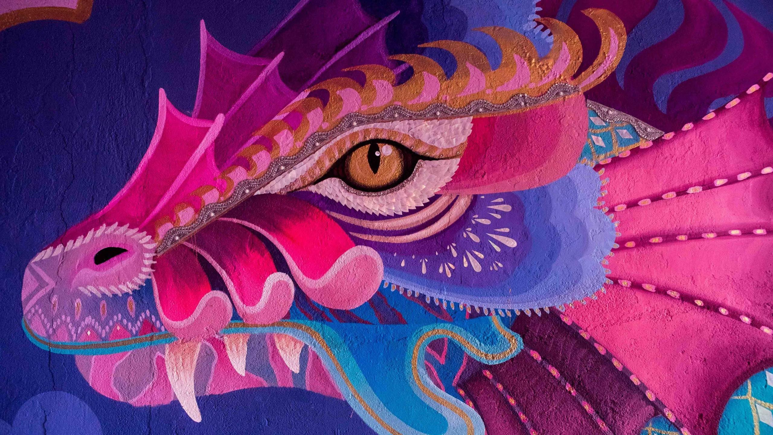 Res: 2560x1440, Creative Graphics / Dragon Wallpaper