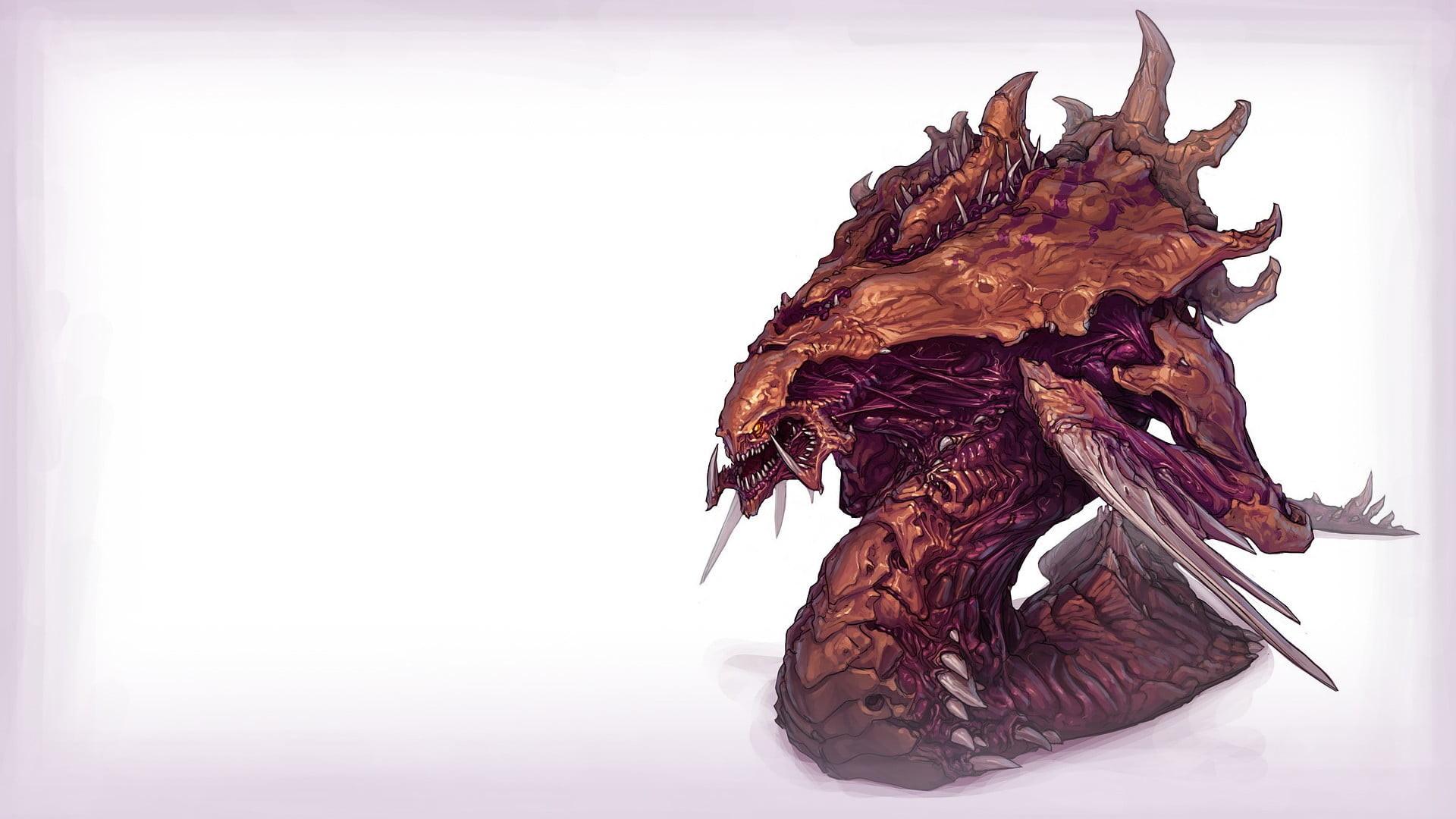 Res: 1920x1080, brown and purple dragon wallpaper HD wallpaper