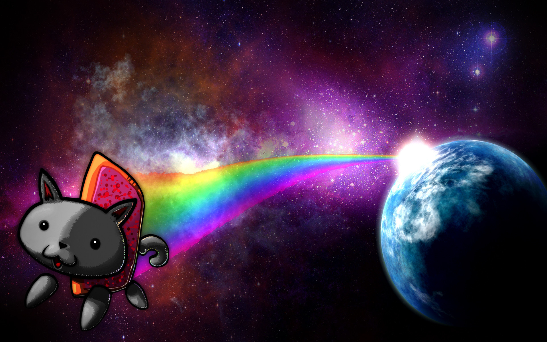 Res: 1920x1200,  Space Cat Wallpaper Picture .