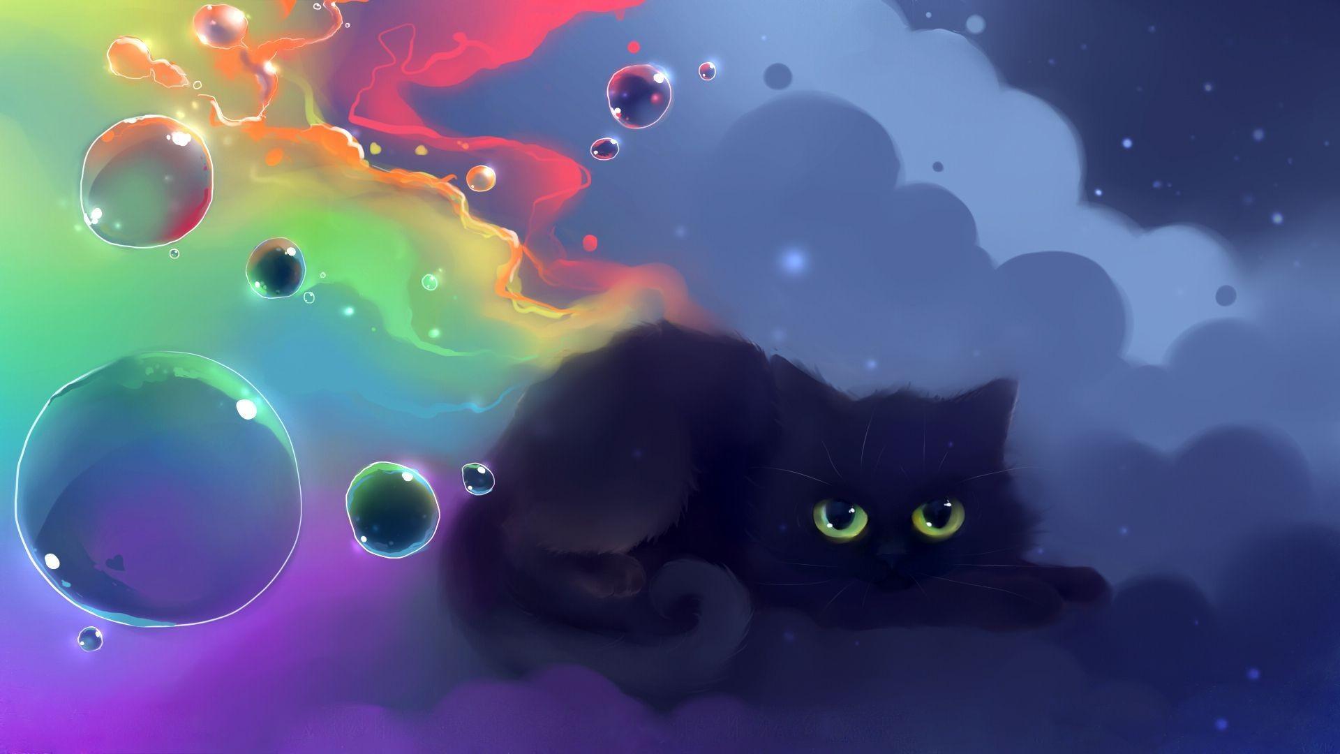 Res: 1920x1080, Black Cat Wallpaper