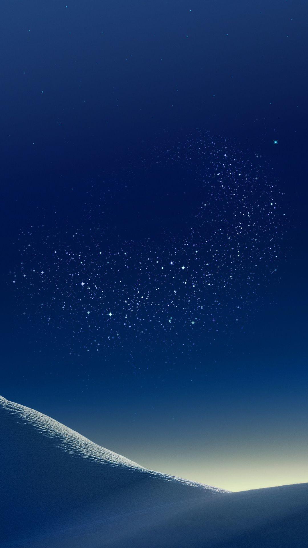 Res: 1080x1920, Mountain, wallpaper, galaxy, tranquil, beauty, nature, peaceful, calming,  night, blue, stars, digital art, Samsung