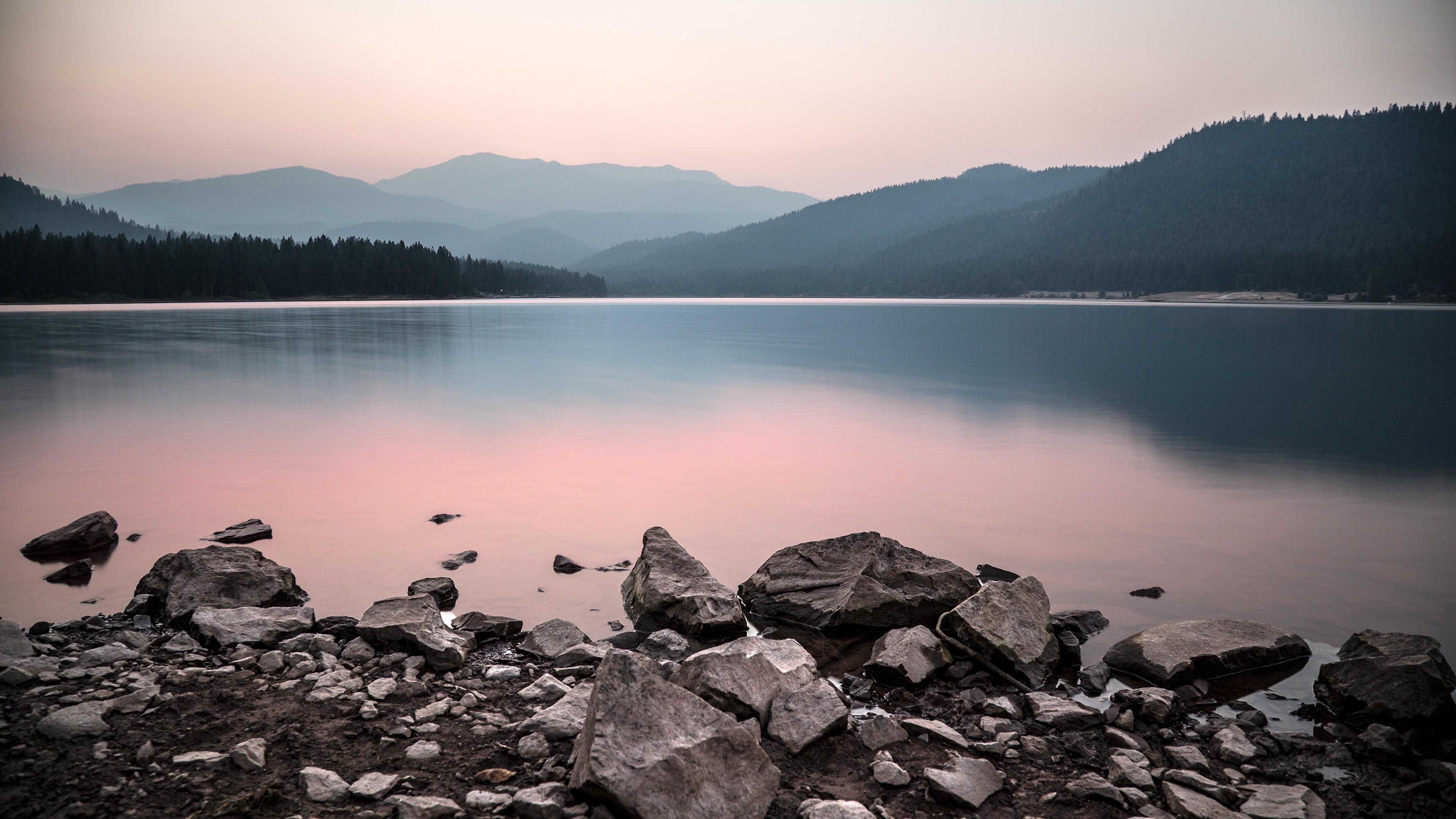 Res: 3840x2160, Calm Mountain Lake 4K Ultra HD Desktop Wallpaper Uploaded by DesktopWalls