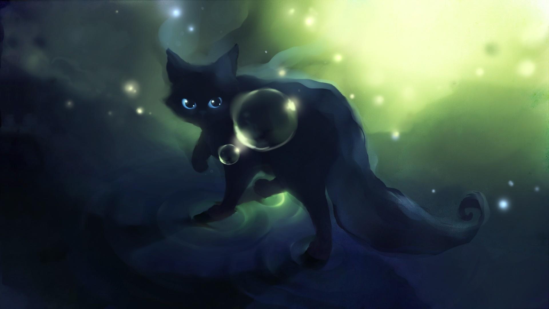Res: 1920x1080, Anime Black Cat Wallpaper .
