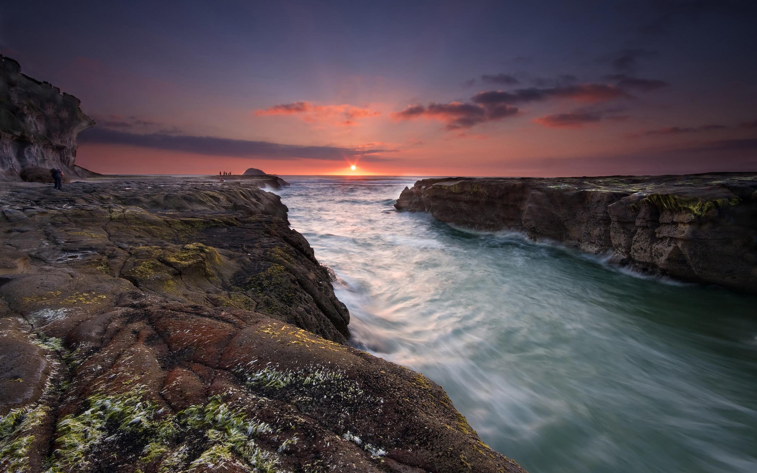 Res: 2560x1600, Calming Sunset Wallpaper