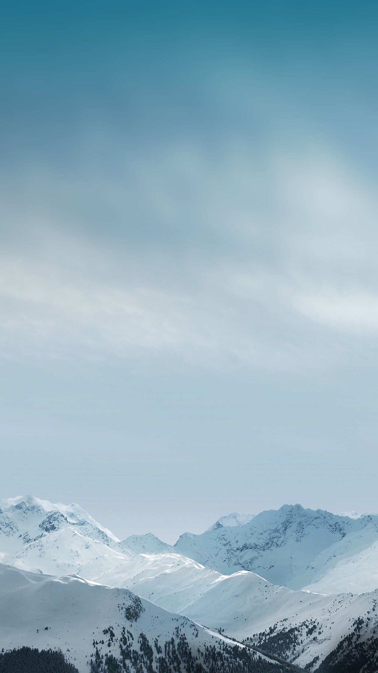 Res: 1242x2208, Winter mountain, wallpaper, iPhone, clean, beauty, colour, peaceful, calming
