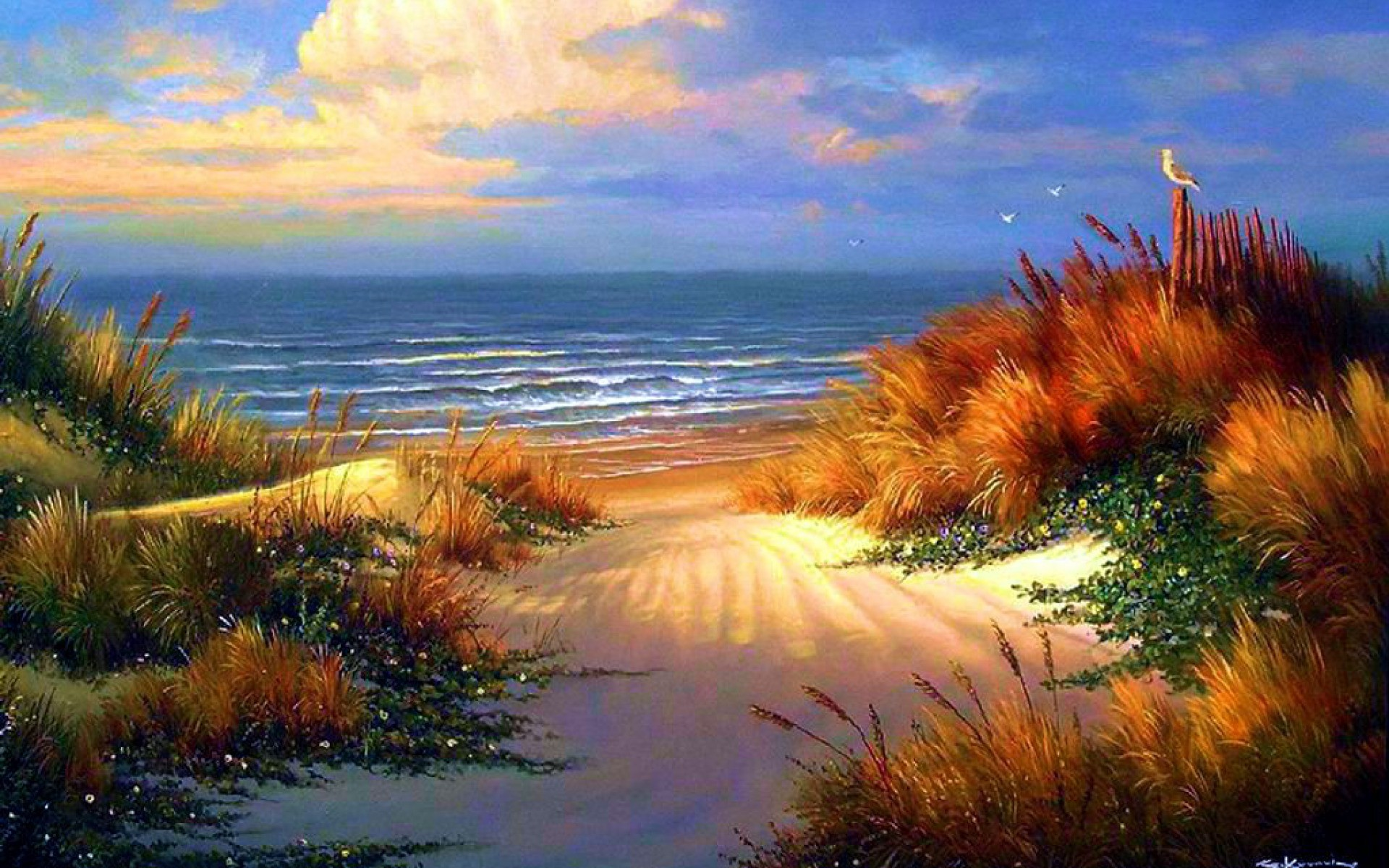 Res: 1920x1200, Image: Calm Ocean & Beautiful Beach wallpapers and stock photos. Â«