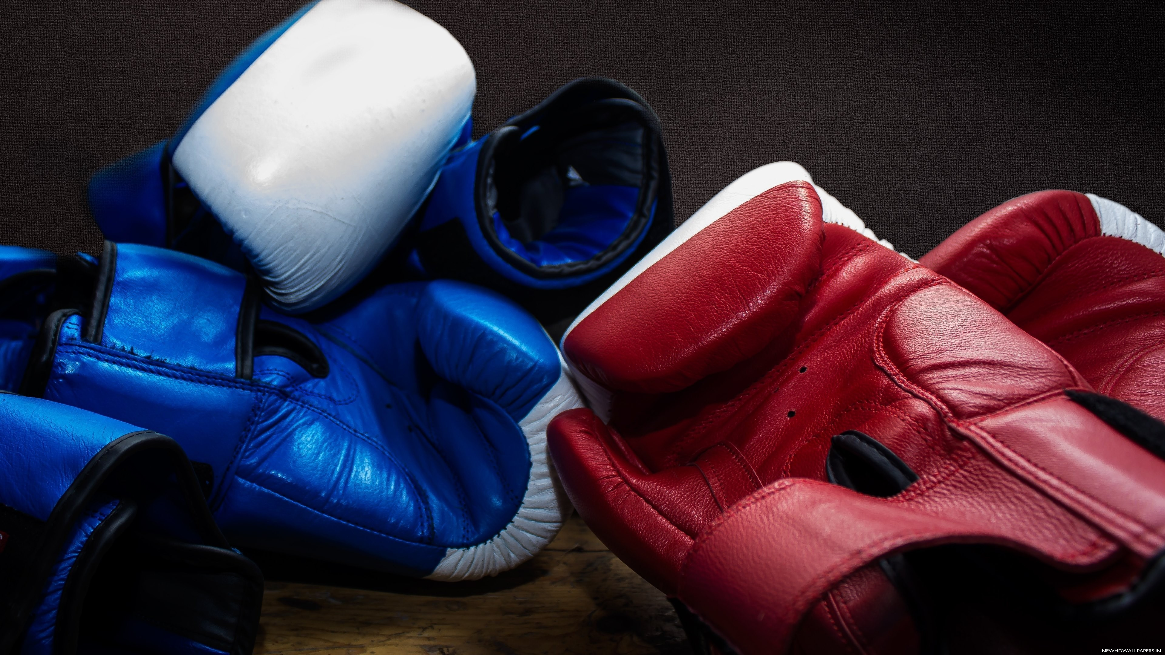 Res: 3840x2160, Blue, Red Boxing Gloves HD Wallpaper