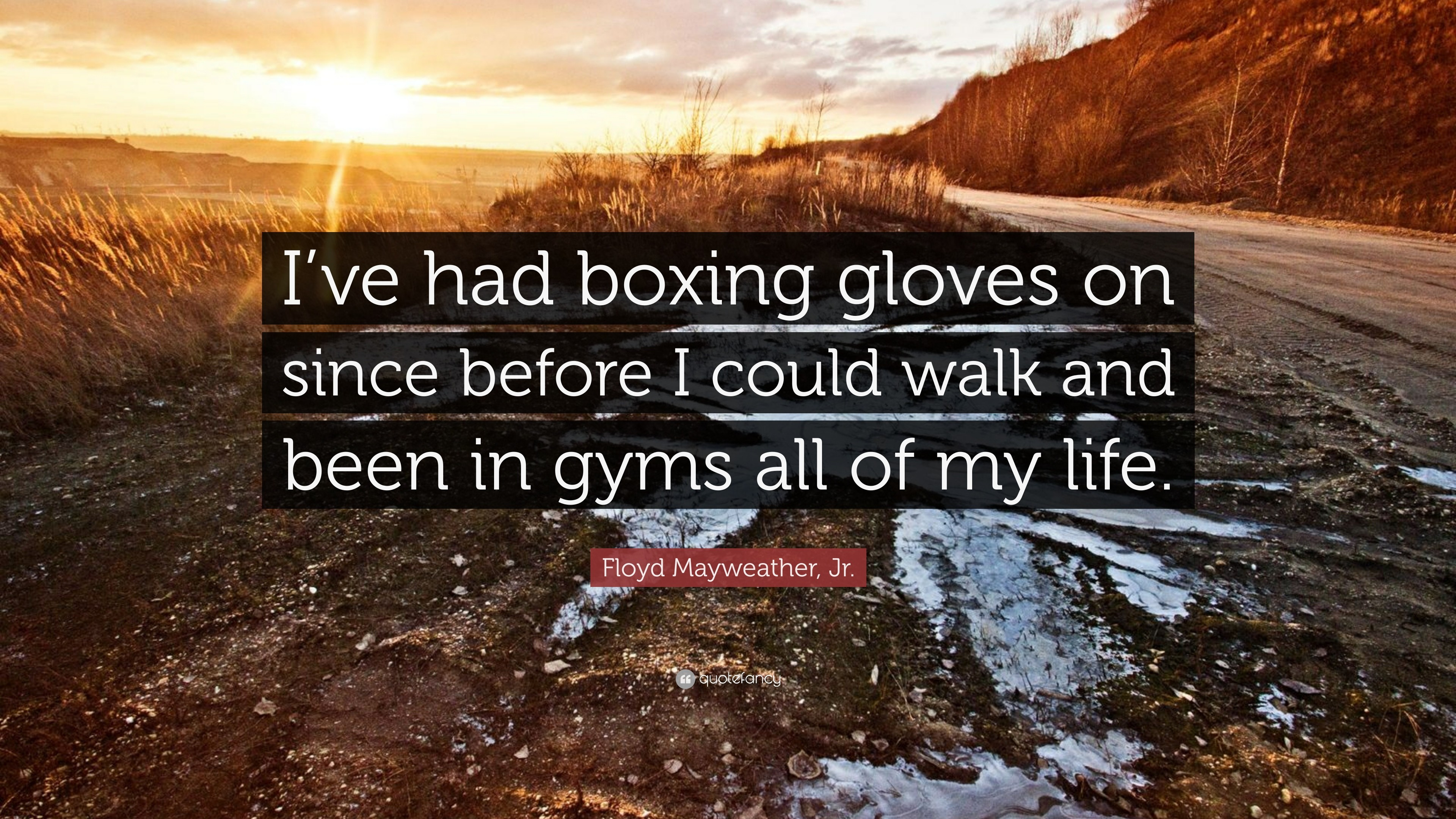 """Res: 3840x2160, Floyd Mayweather, Jr. Quote: """"I've had boxing gloves on since"""