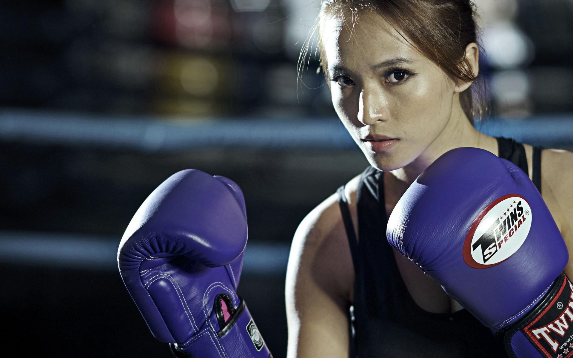 Res: 1920x1200,  Wallpaper girl, boxing, gloves, sport