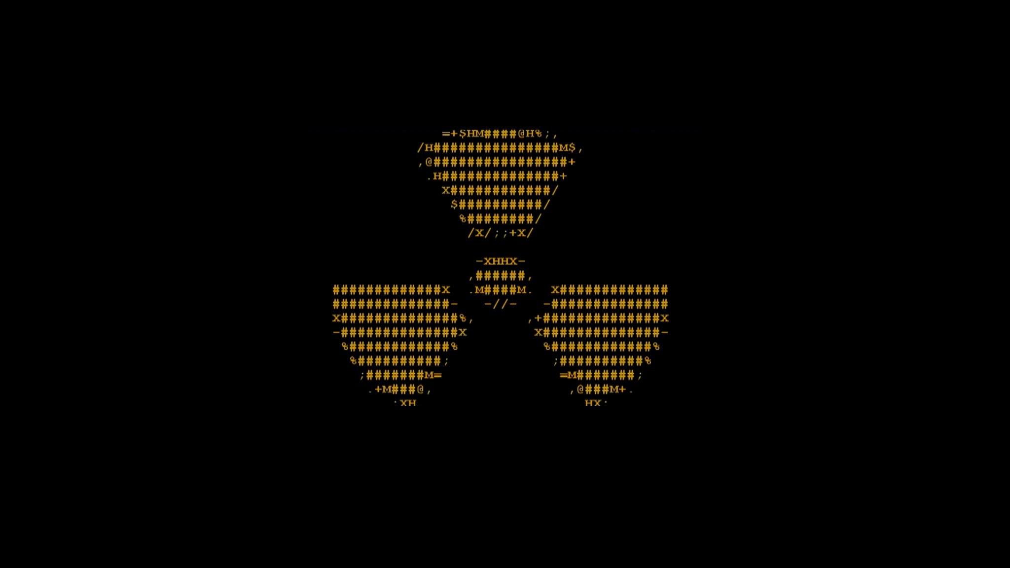 Res: 2048x1152, Radioactive ascii radiation symbol wallpaper |  | 311559 |  WallpaperUP