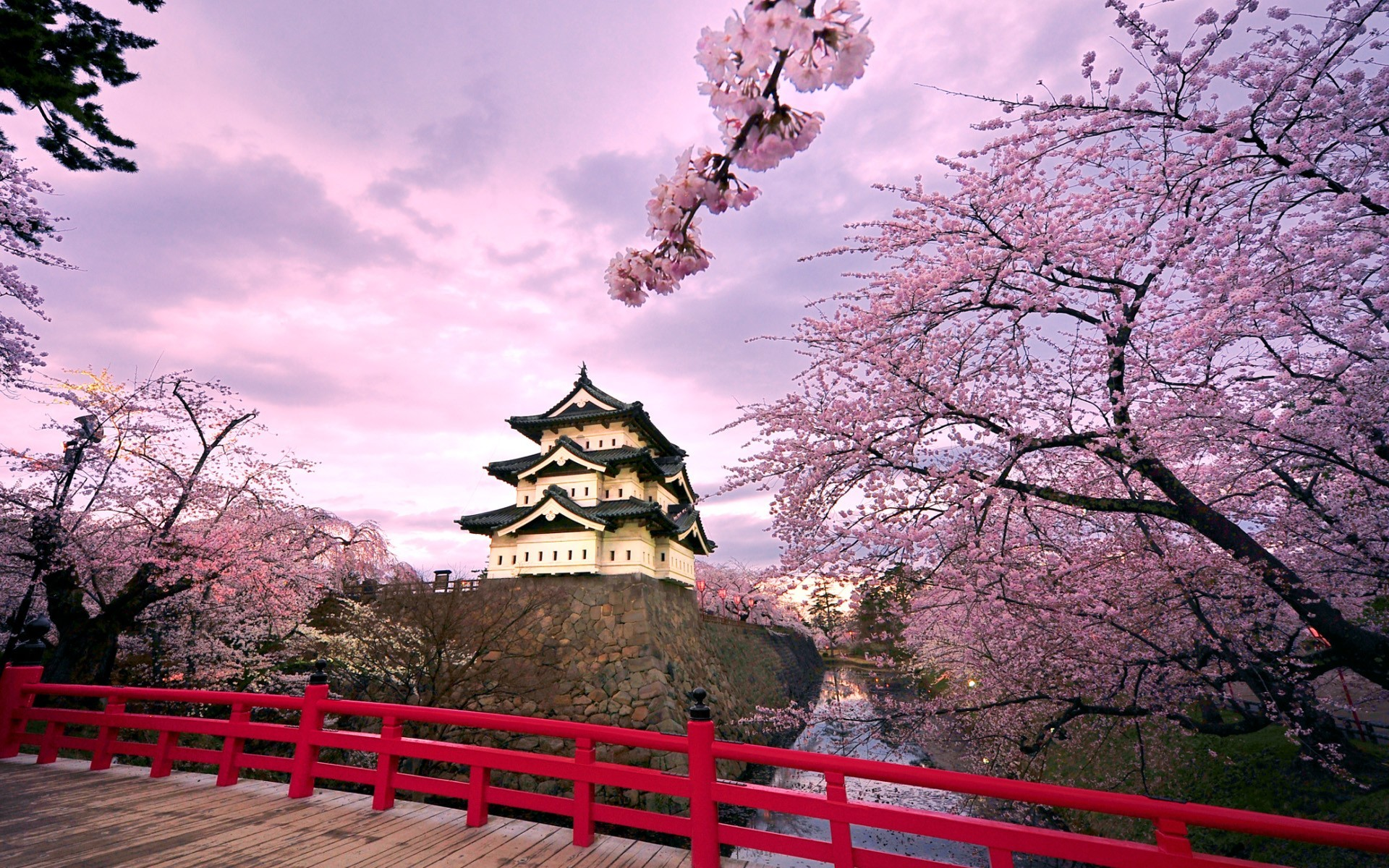 Res: 1920x1200, Hirosaki Castle Japan Wallpaper