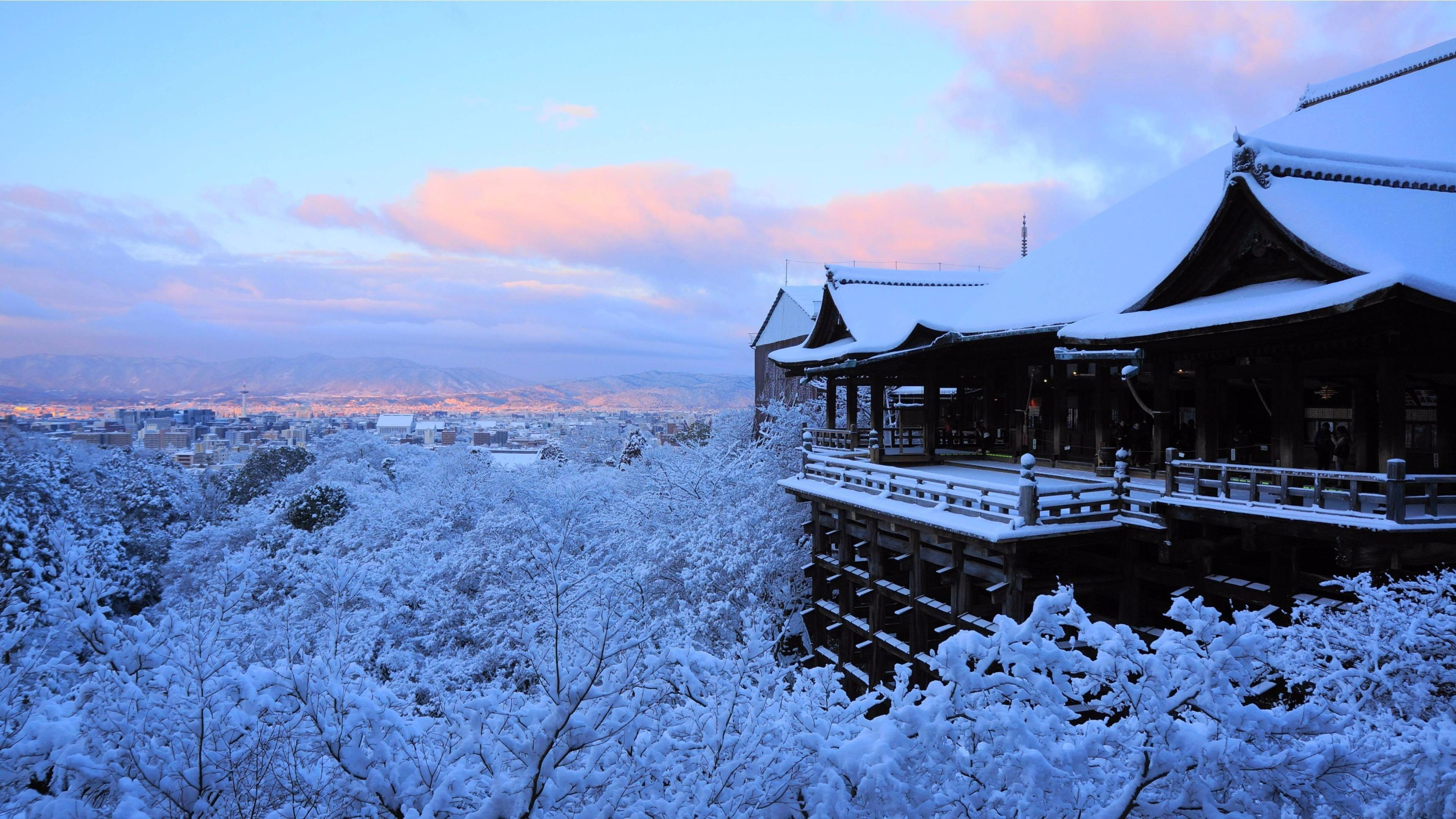 Res: 3840x2160,  Amazing Winter 2016 Kyoto, Japan 4K Wallpaper | Free 4K Wallpaper