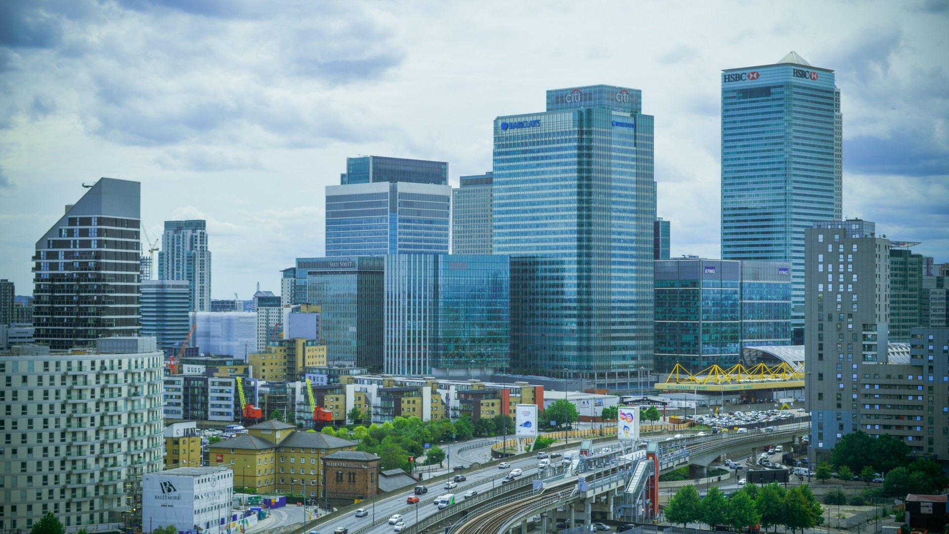 Res: 1920x1080, Download now full hd wallpaper london business center overcast ...