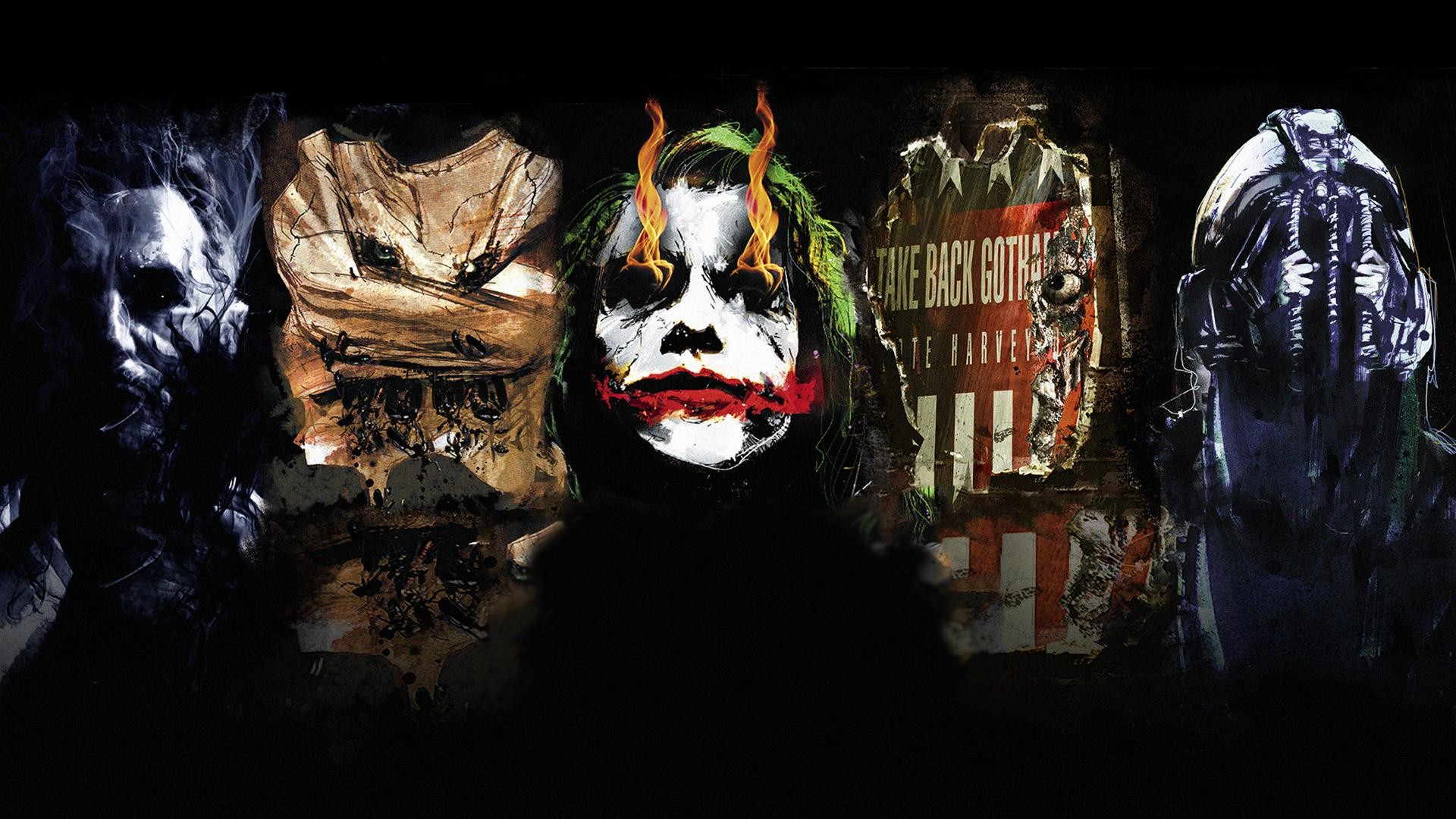Res: 1920x1080, The Dark Knight Trilogy Villains ...