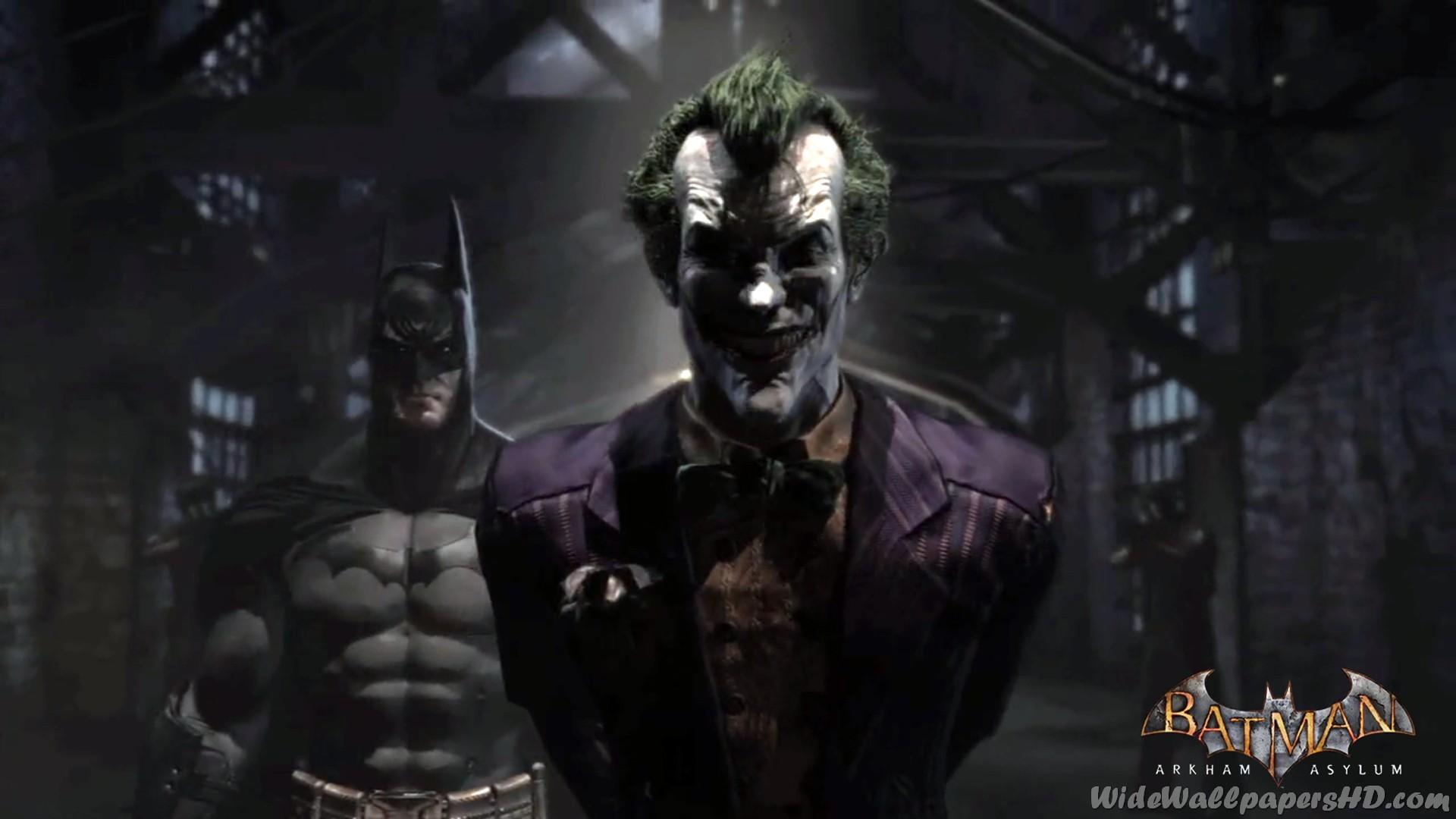 Res: 1920x1080, Batman-With-Joker-In-Pen-Batman-Arkham-Asylum-Wallpapers.jpg