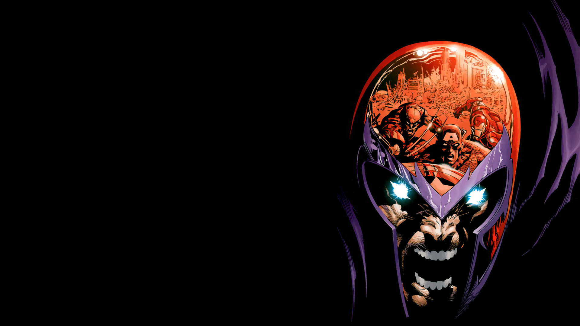 Res: 1920x1080, Magneto Defending Wallpaper