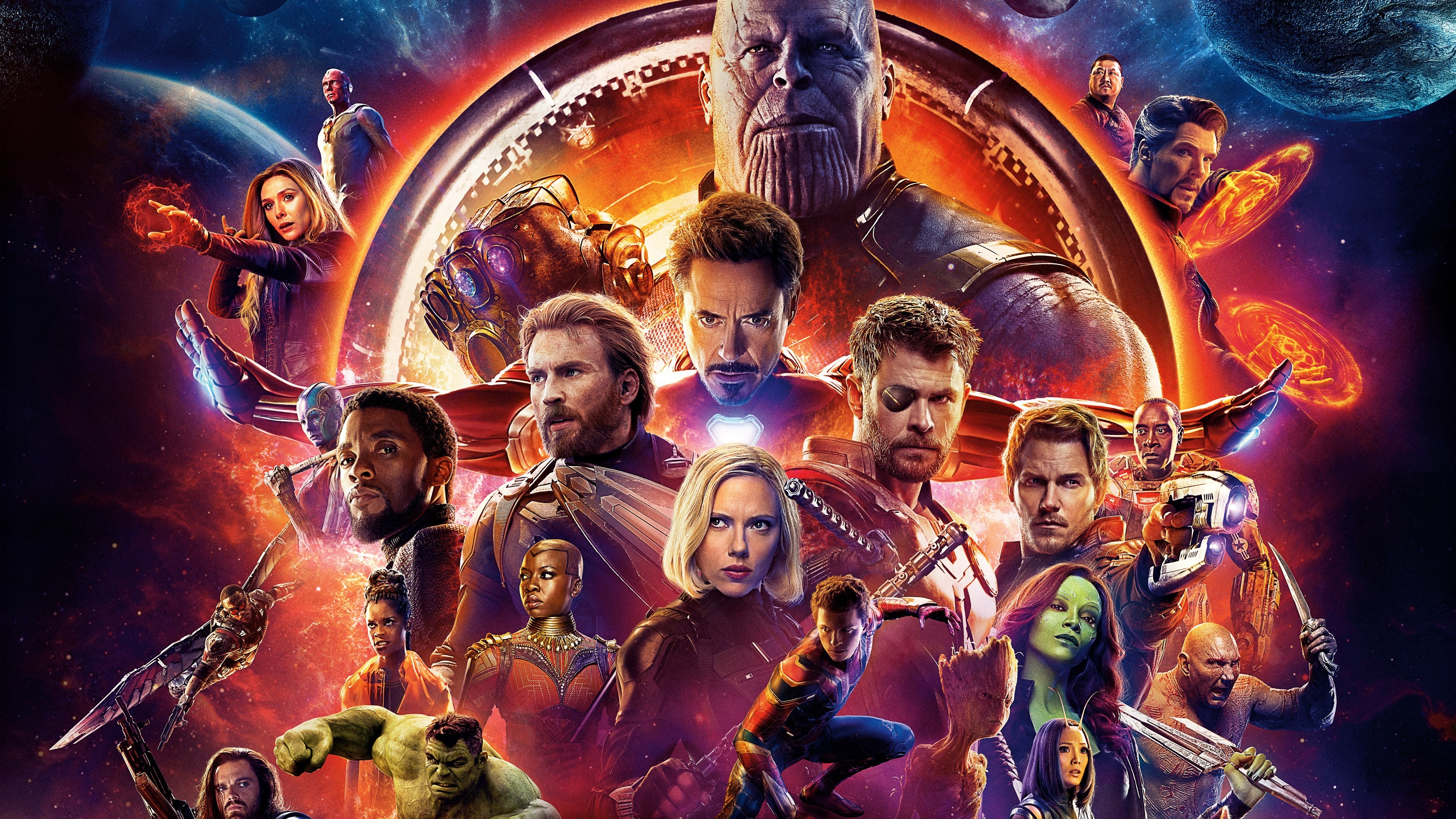 Res: 3840x2160, Avengers Infinity War Superhero and Villain 4K Wallpaper-