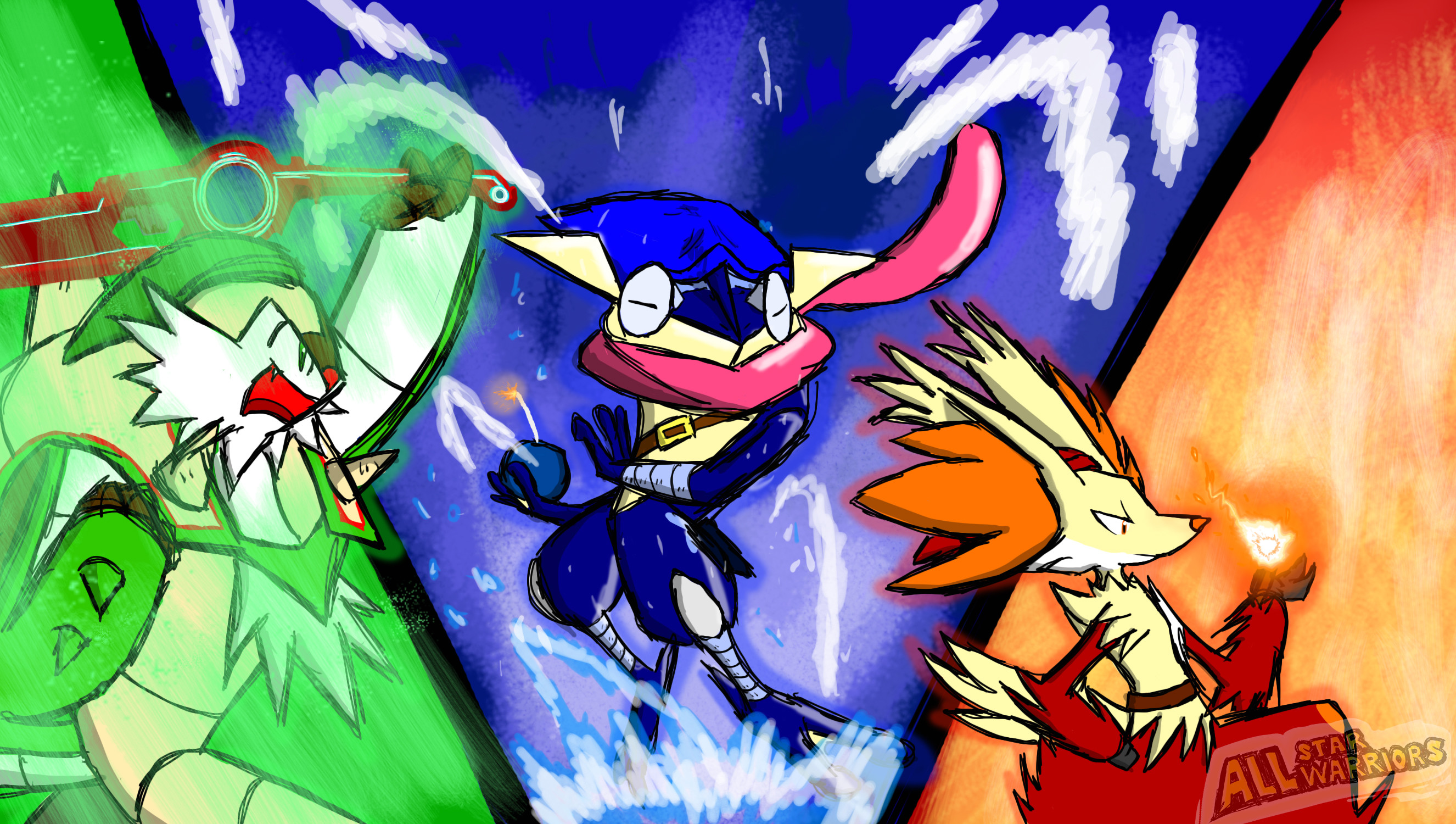 Res: 2652x1500, ... Kalos Triforce Heroes by All-StarWarriors