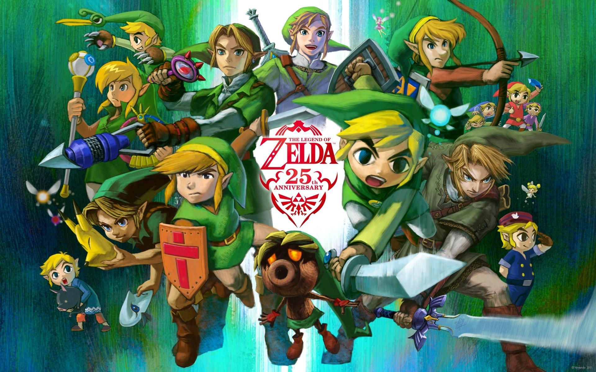 Res: 1920x1200, Zelda Anniversary Wallpaper