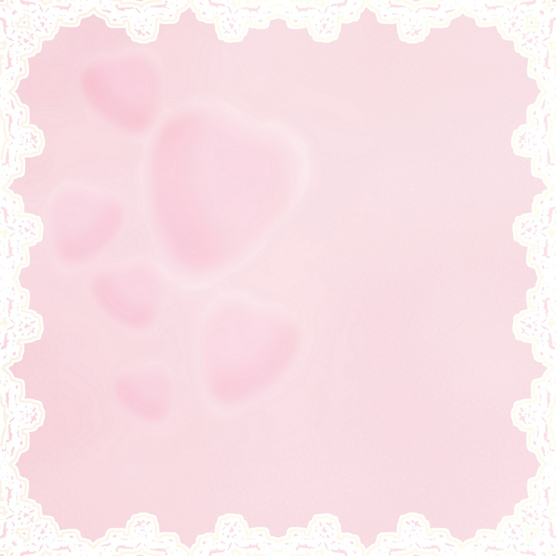 Res: 1920x1920, Pink Hearts With White Lace