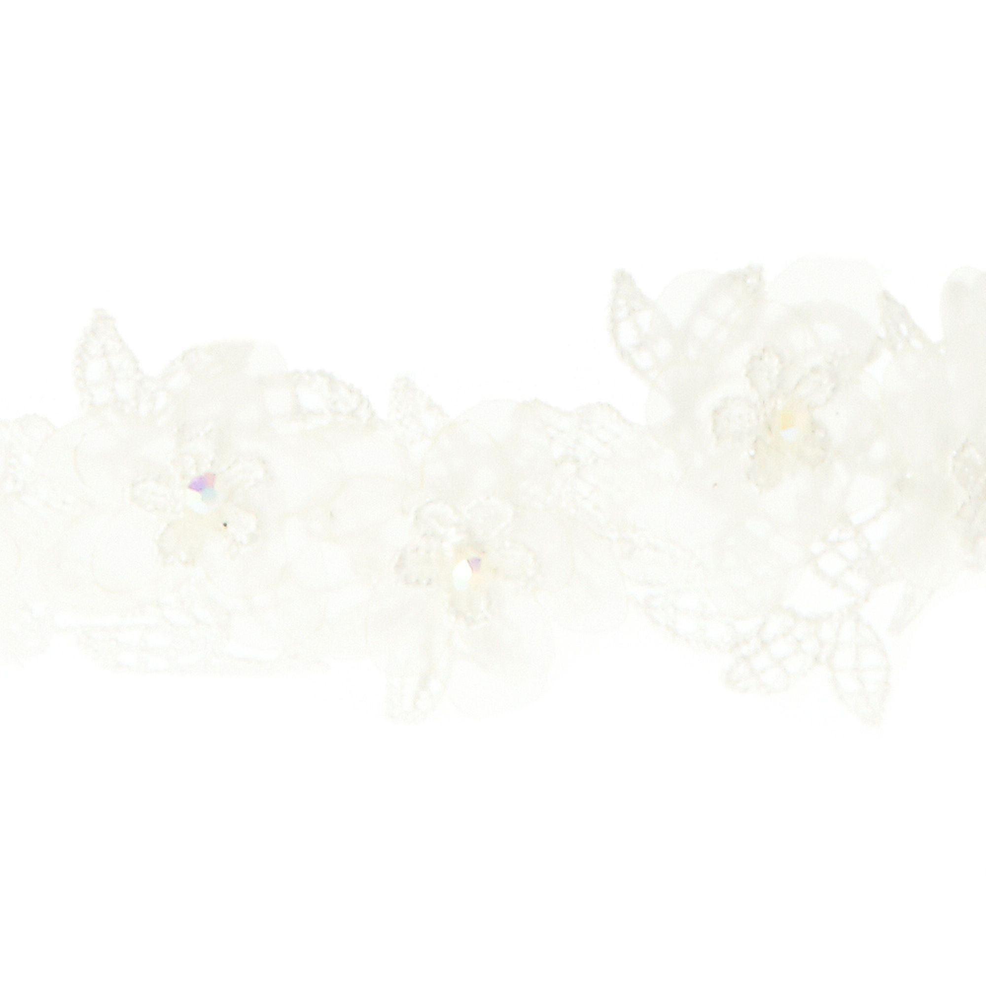 Res: 2000x2000, ... White Lace and Chiffon Tie Back Headband,