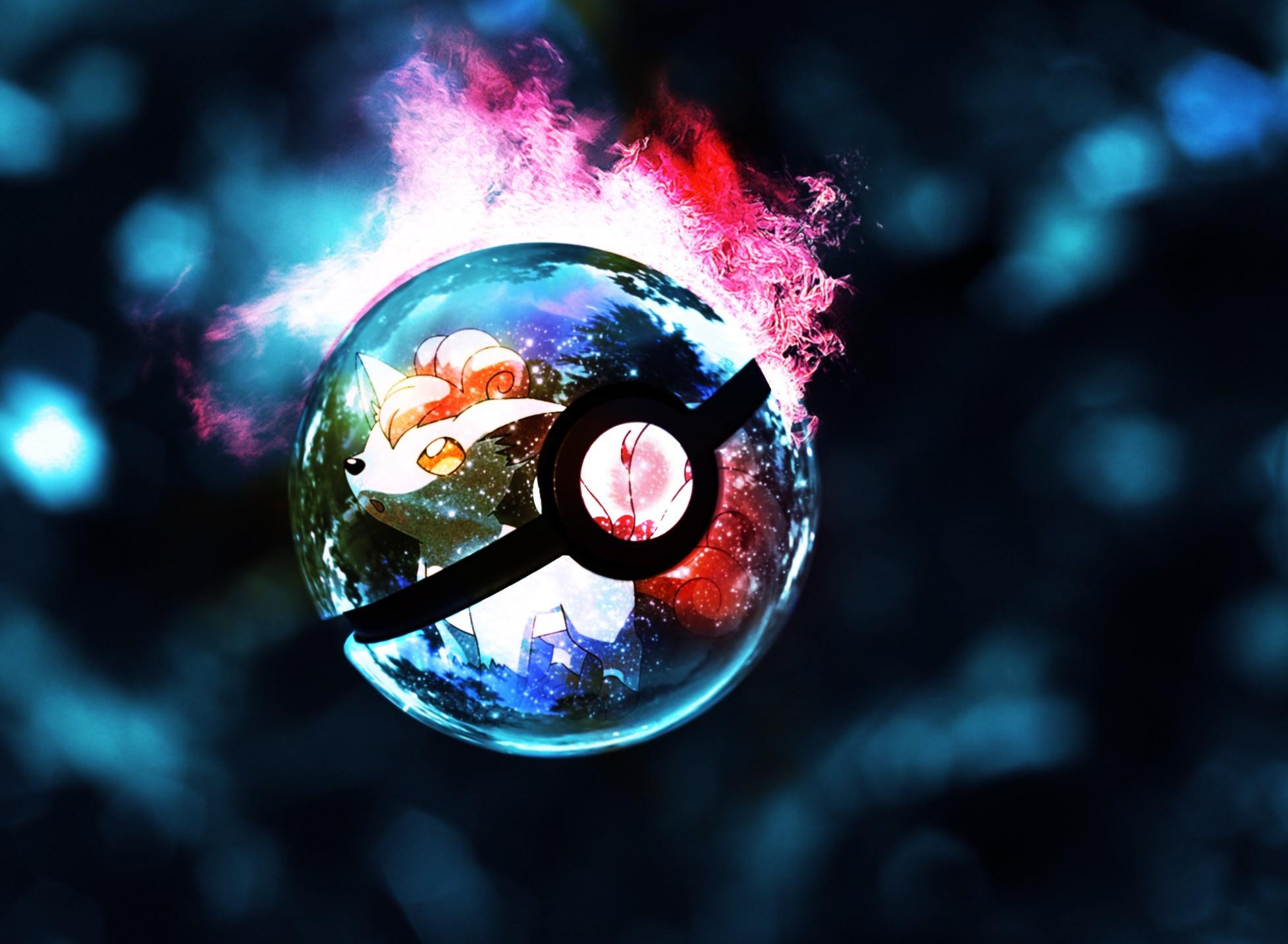 Res: 1956x1434, pokemon · lights · glowing · Pokeball
