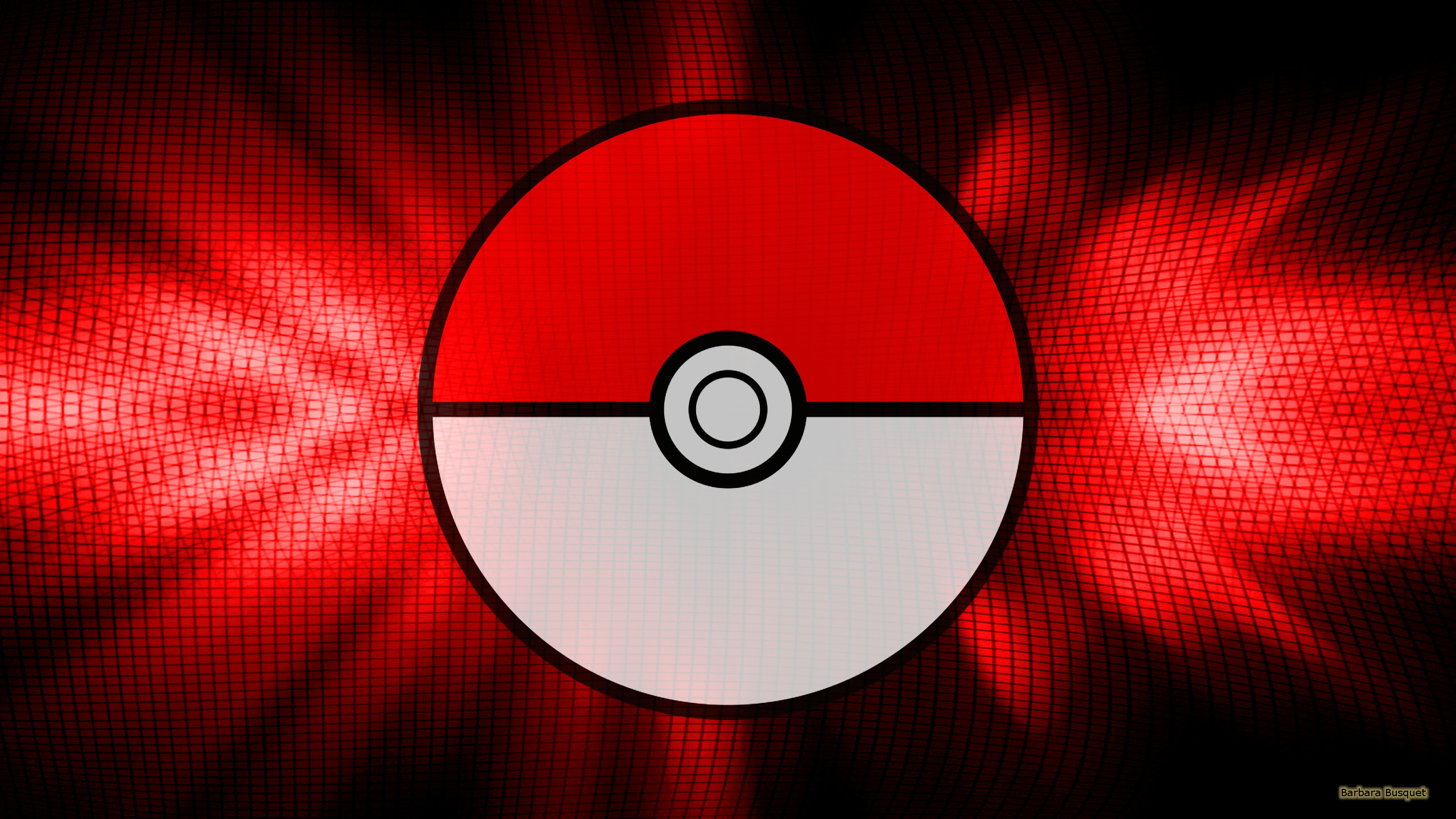 Res: 2560x1440, Black red Pokemon GO wallpaper with a pokeball.